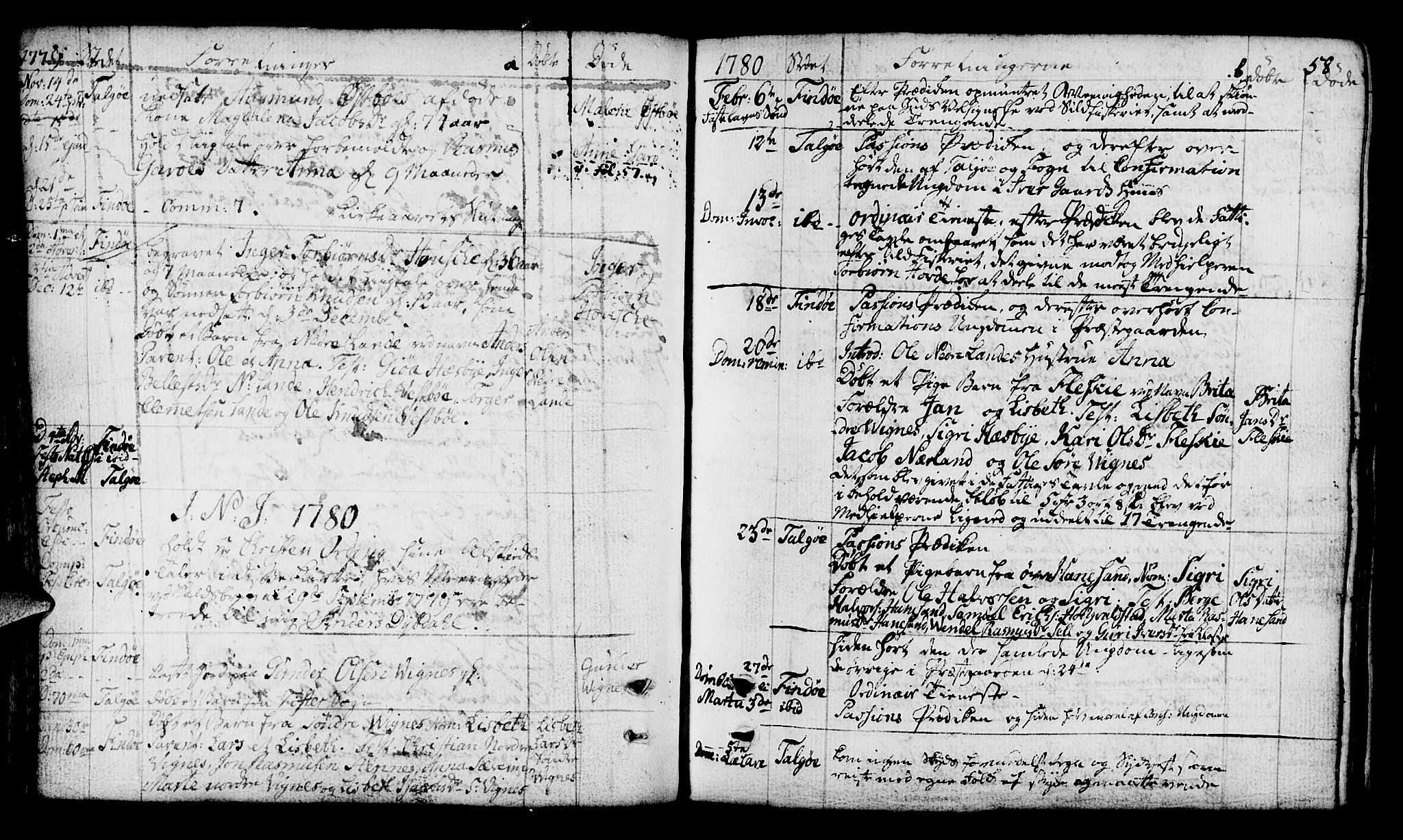 SAST, Finnøy sokneprestkontor, H/Ha/Haa/L0005: Parish register (official) no. A 5, 1773-1816, p. 58