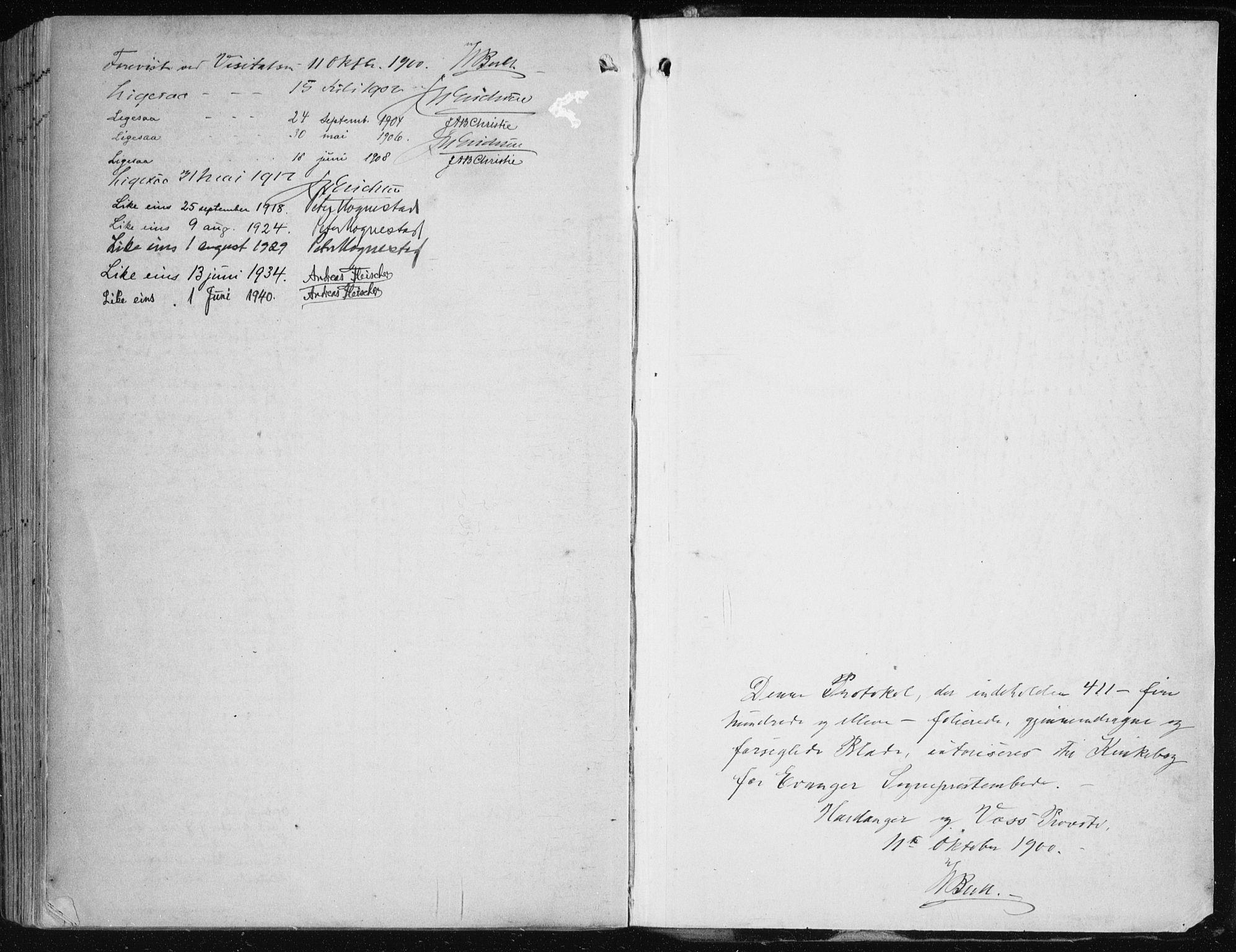 SAB, Evanger sokneprestembete*, Parish register (official) no. A  3, 1900-1930