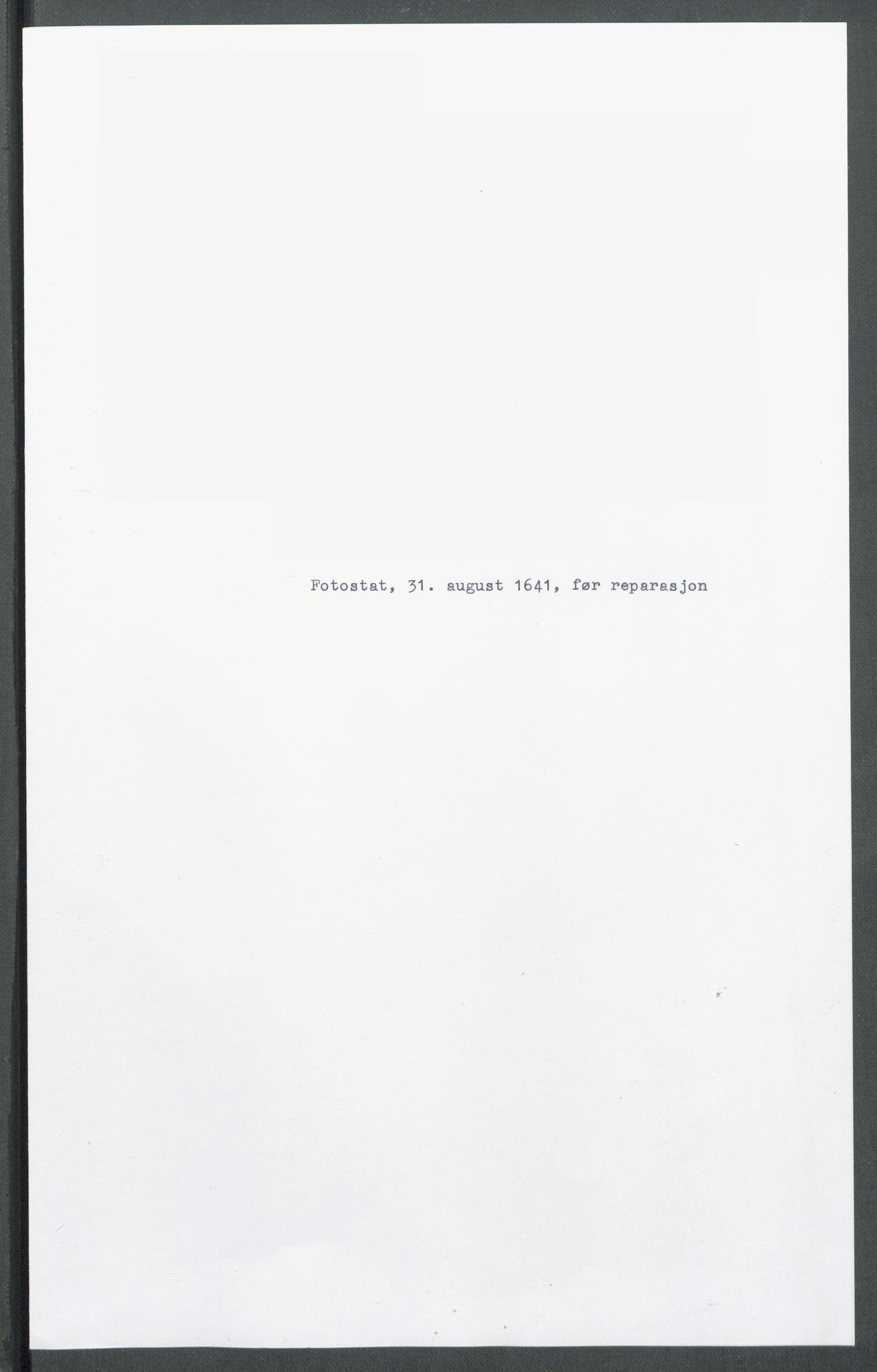 RA, Riksarkivets diplomsamling, F02/L0154: Dokumenter, 1641, p. 41