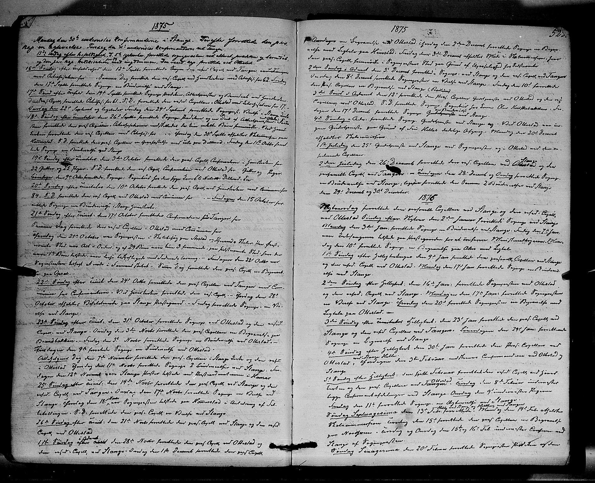 SAH, Stange prestekontor, K/L0013: Parish register (official) no. 13, 1862-1879, p. 523
