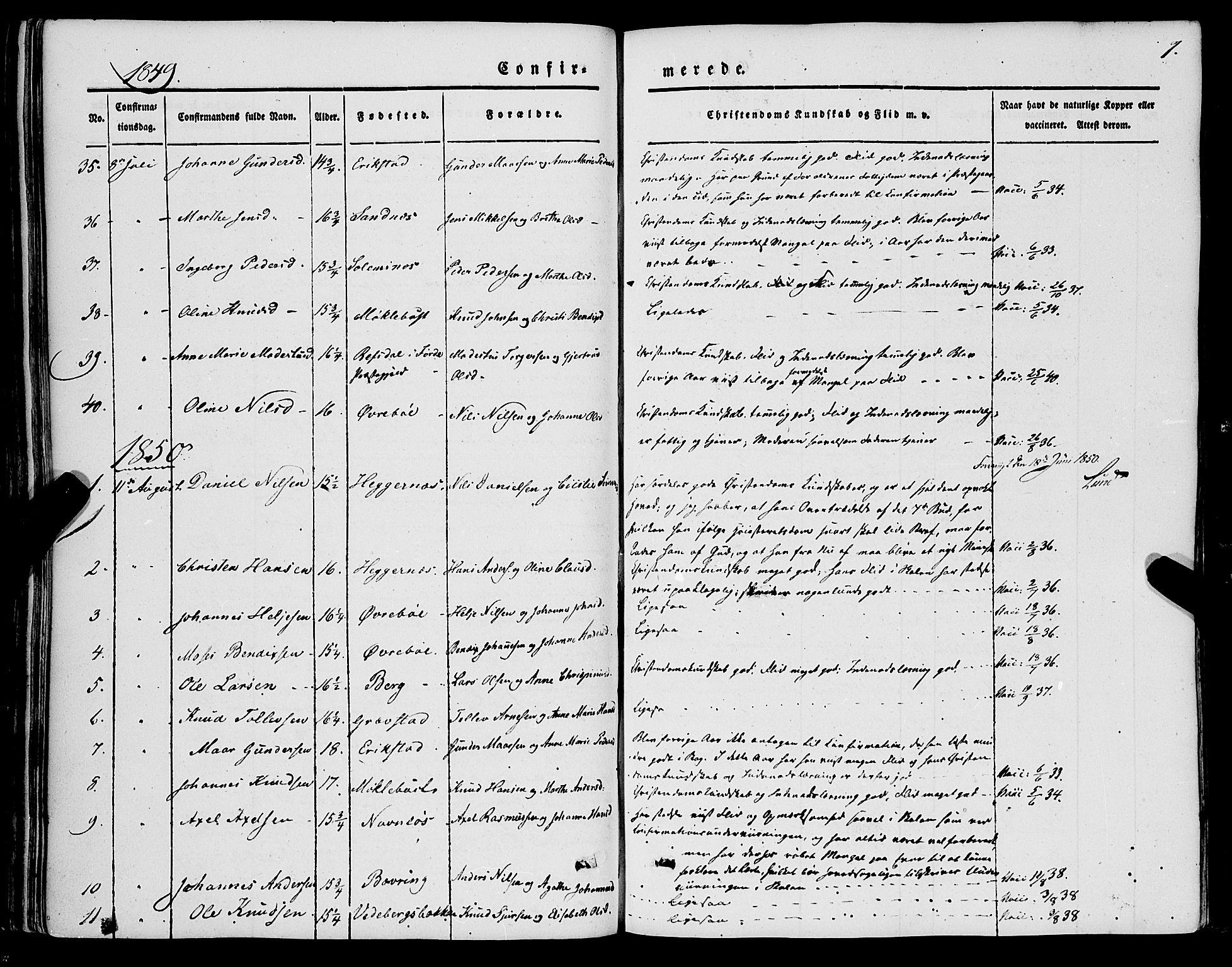 SAB, Jølster sokneprestembete, H/Haa/Haaa/L0010: Parish register (official) no. A 10, 1847-1865, p. 7