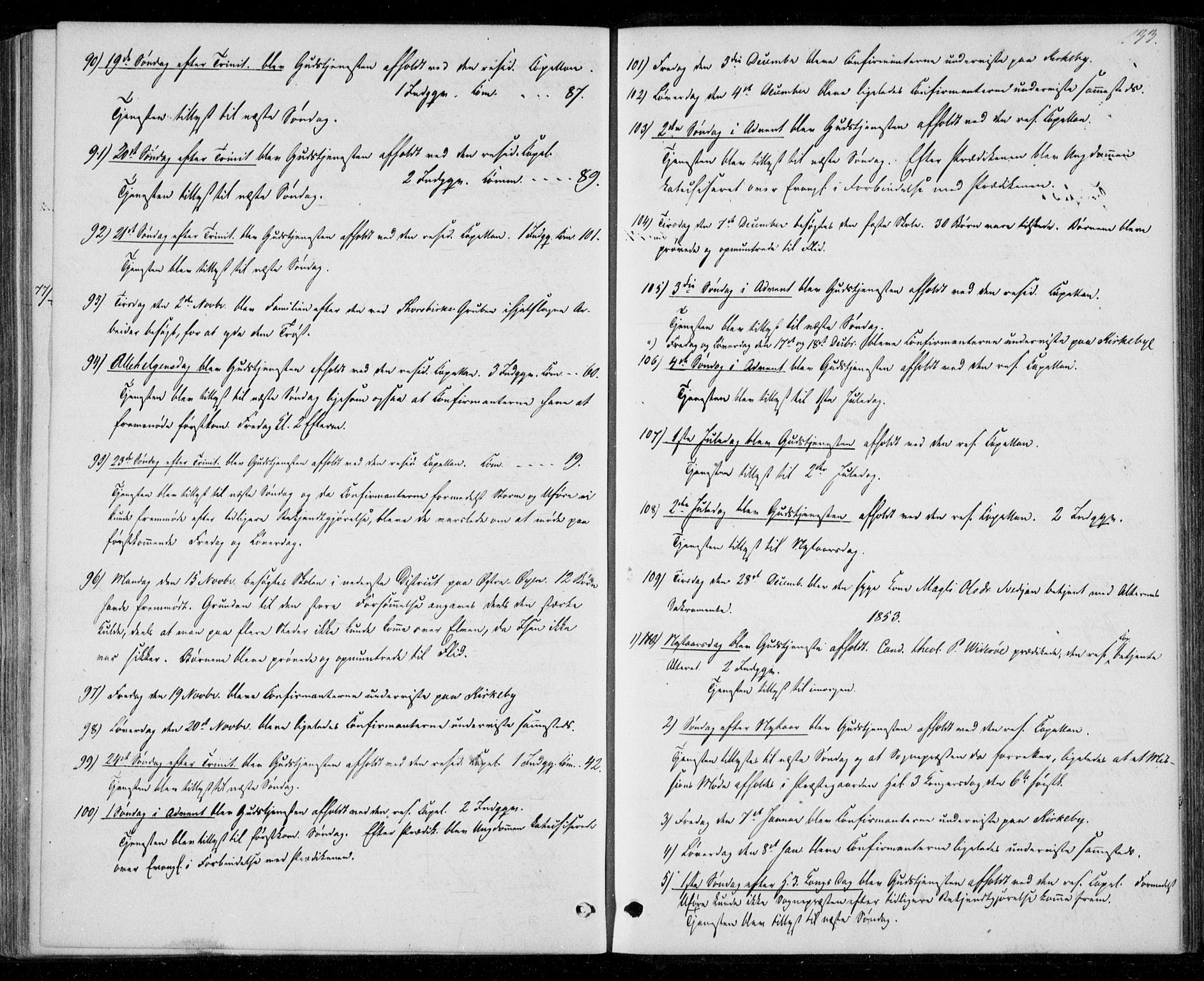 SAT, Ministerialprotokoller, klokkerbøker og fødselsregistre - Nord-Trøndelag, 706/L0040: Parish register (official) no. 706A01, 1850-1861, p. 133