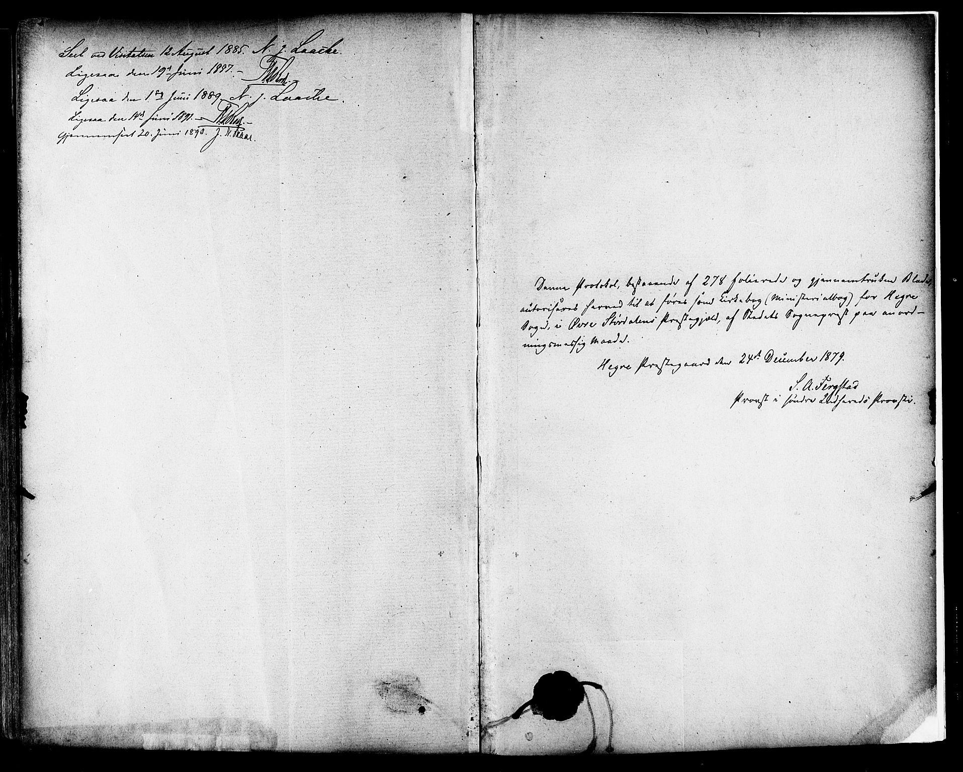 SAT, Ministerialprotokoller, klokkerbøker og fødselsregistre - Nord-Trøndelag, 703/L0030: Parish register (official) no. 703A03, 1880-1892