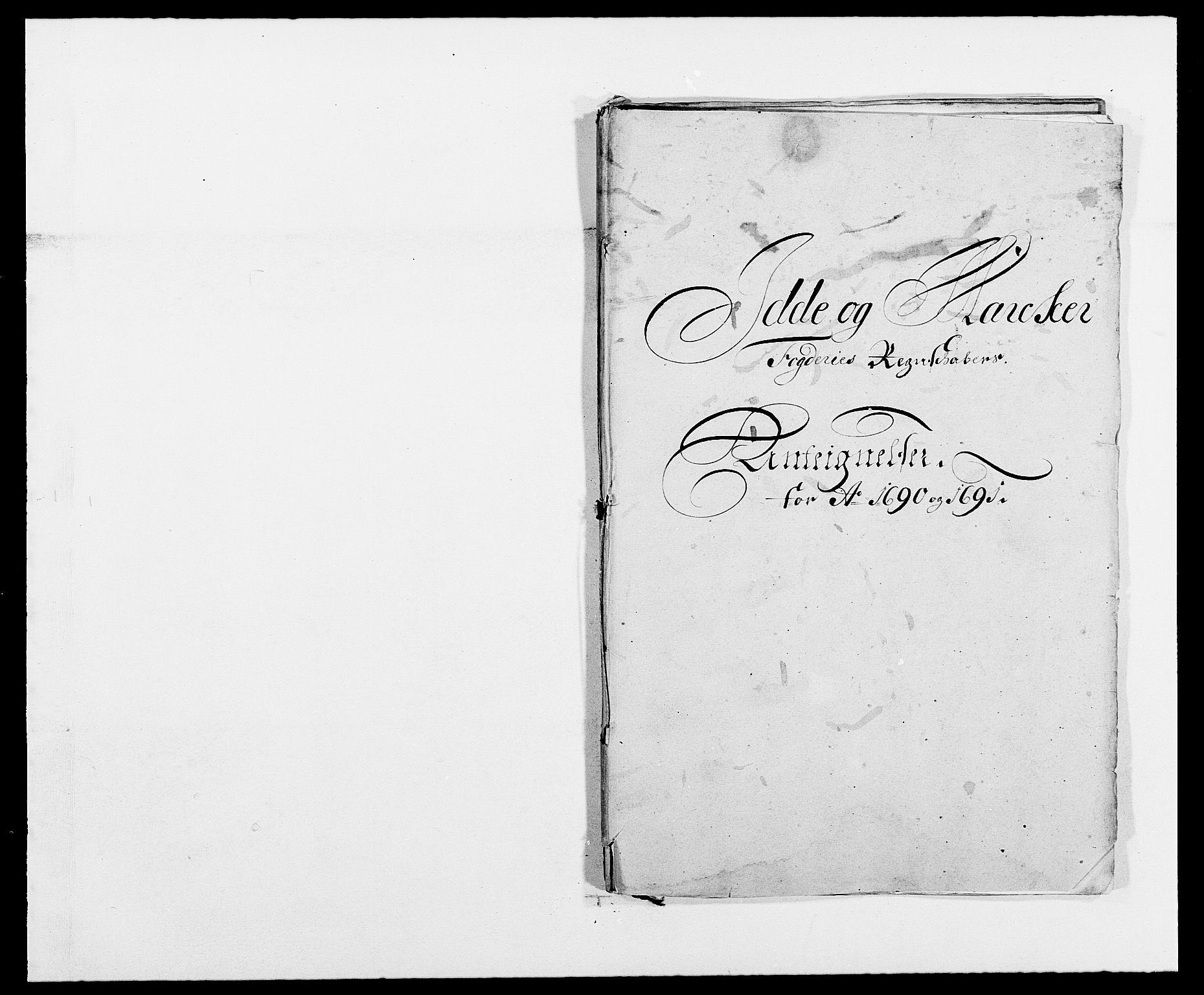 RA, Rentekammeret inntil 1814, Reviderte regnskaper, Fogderegnskap, R01/L0010: Fogderegnskap Idd og Marker, 1690-1691, p. 109