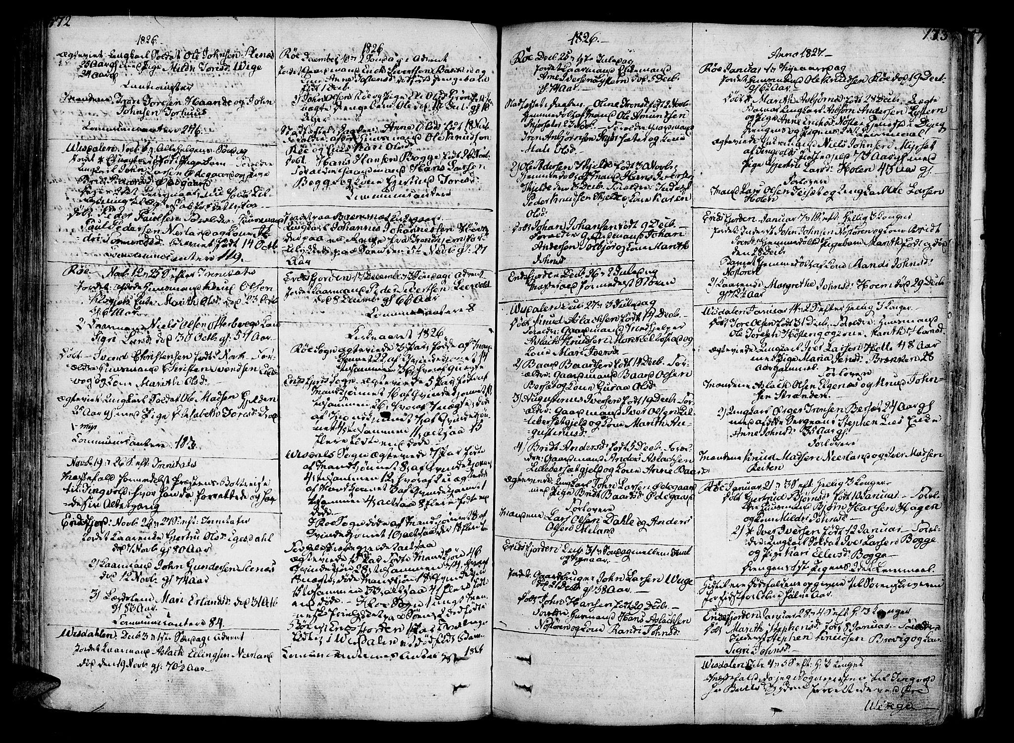 SAT, Ministerialprotokoller, klokkerbøker og fødselsregistre - Møre og Romsdal, 551/L0622: Parish register (official) no. 551A02, 1804-1845, p. 172-173