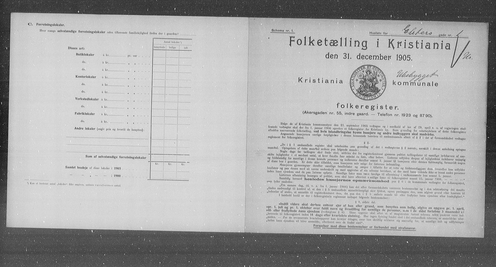 OBA, Municipal Census 1905 for Kristiania, 1905, p. 10491