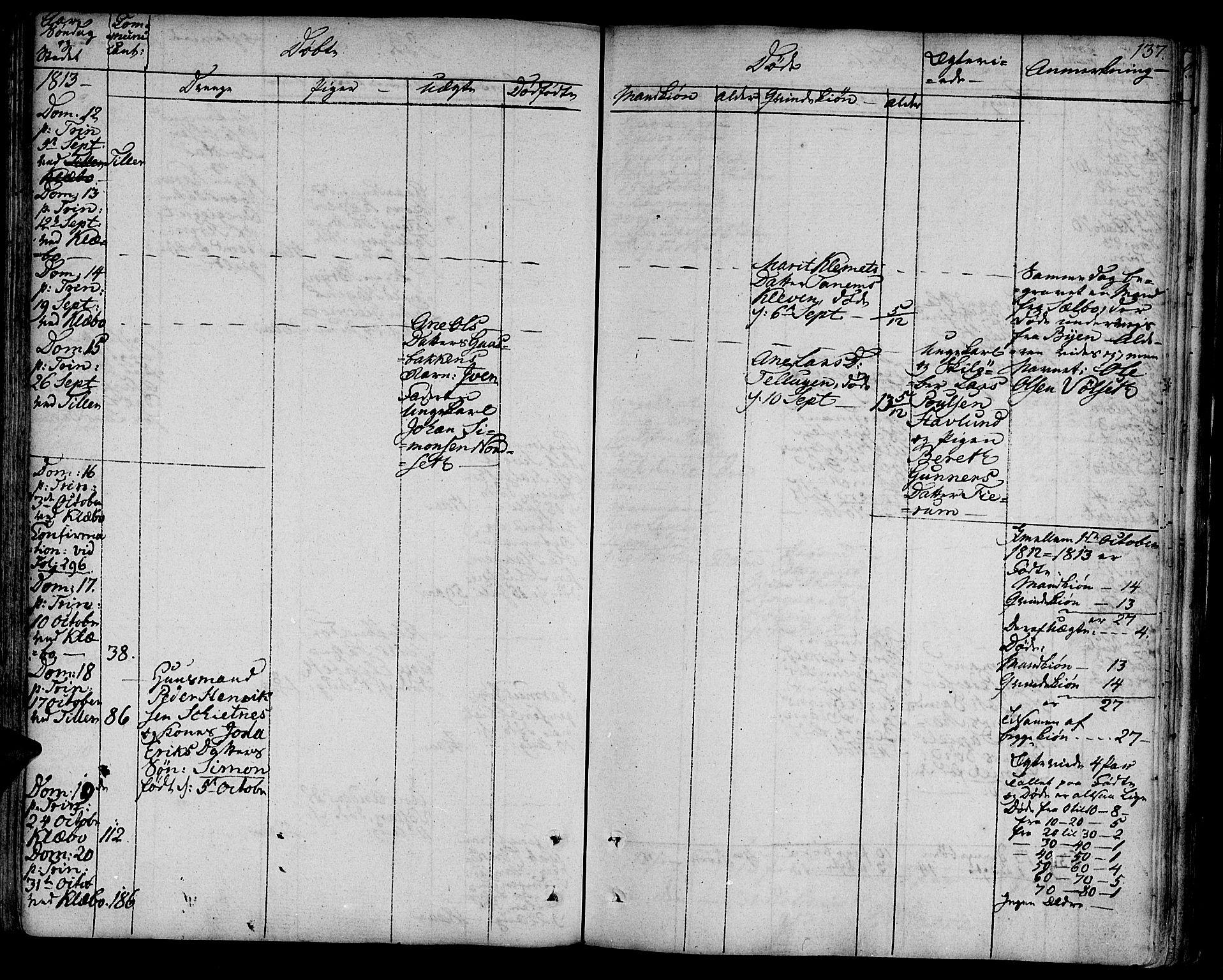 SAT, Ministerialprotokoller, klokkerbøker og fødselsregistre - Sør-Trøndelag, 618/L0438: Parish register (official) no. 618A03, 1783-1815, p. 137