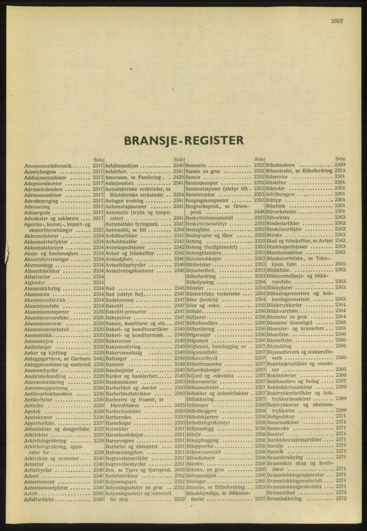 PUBL, Kristiania/Oslo adressebok, 1952, p. 2697