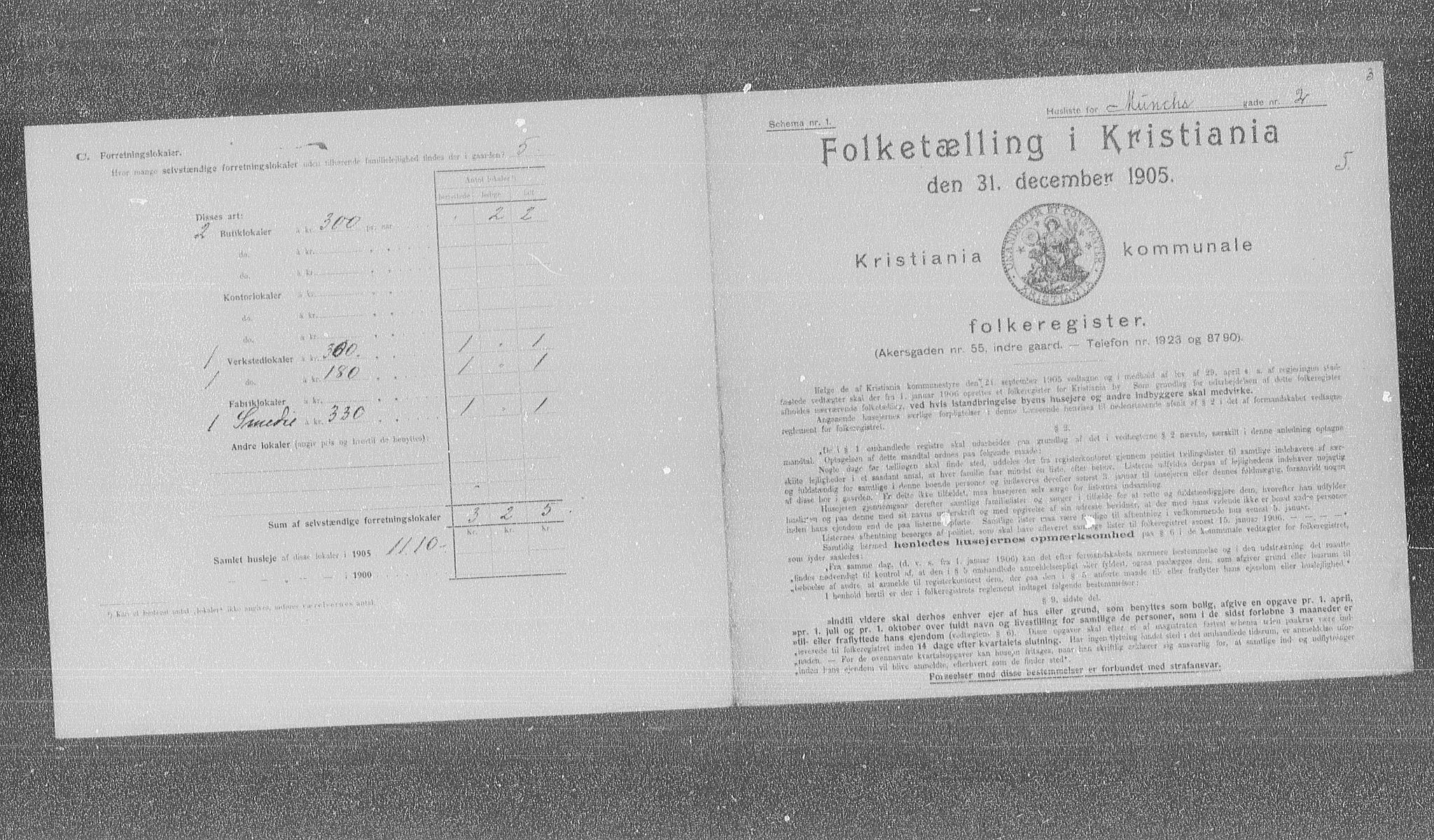 OBA, Municipal Census 1905 for Kristiania, 1905, p. 34981