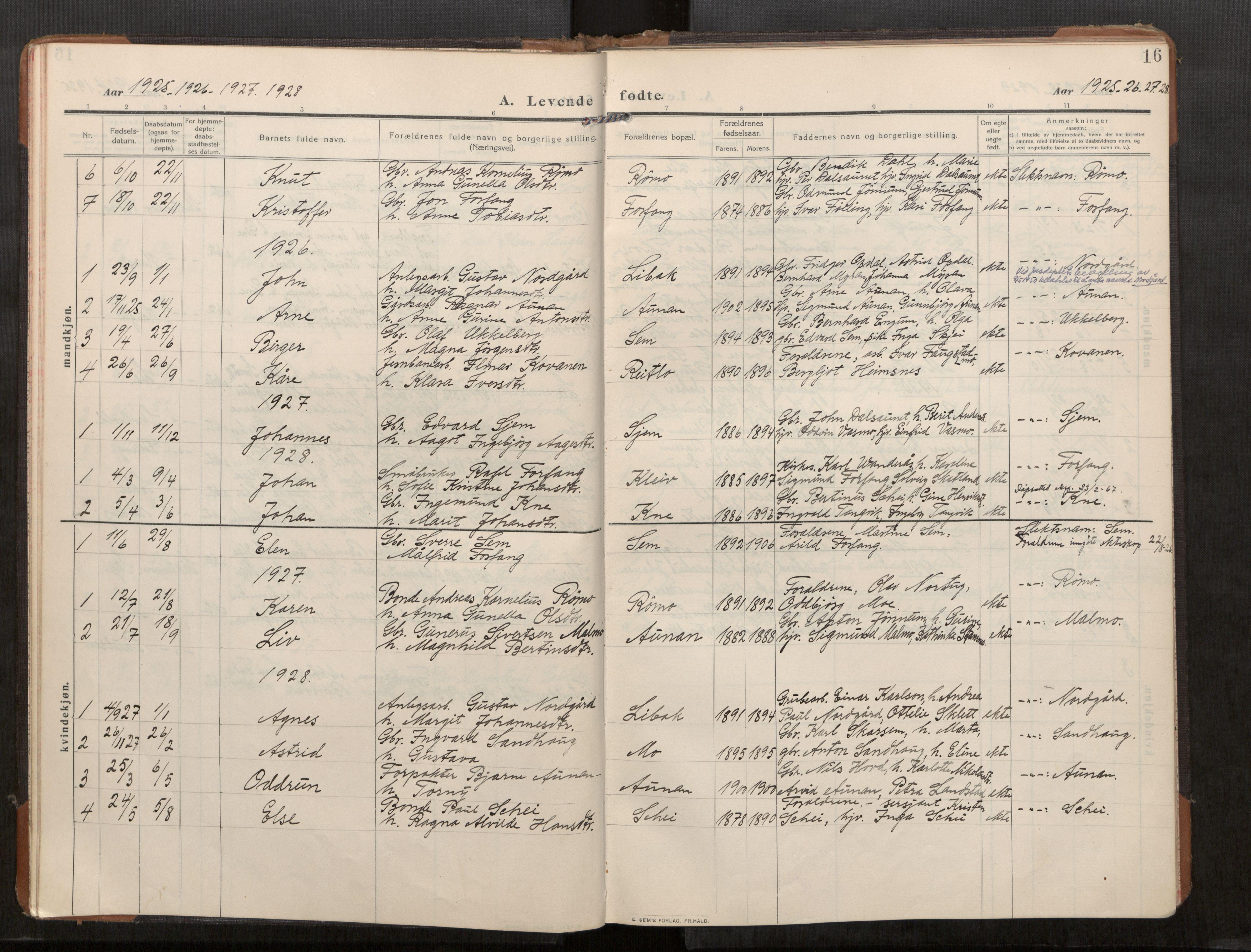 SAT, Stod sokneprestkontor, I/I1/I1a/L0003: Parish register (official) no. 3, 1909-1934, p. 16