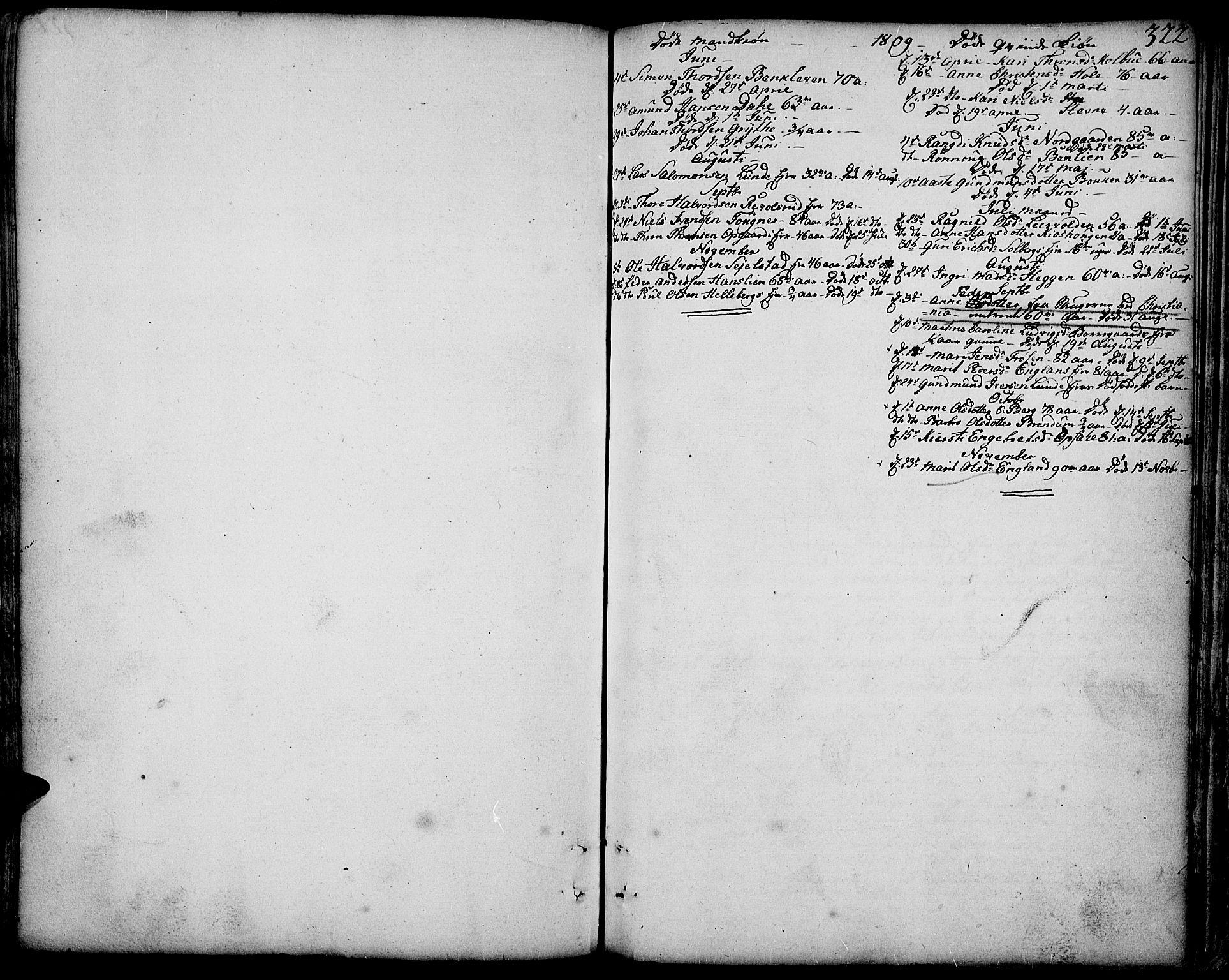 SAH, Gausdal prestekontor, Parish register (official) no. 3, 1758-1809, p. 322
