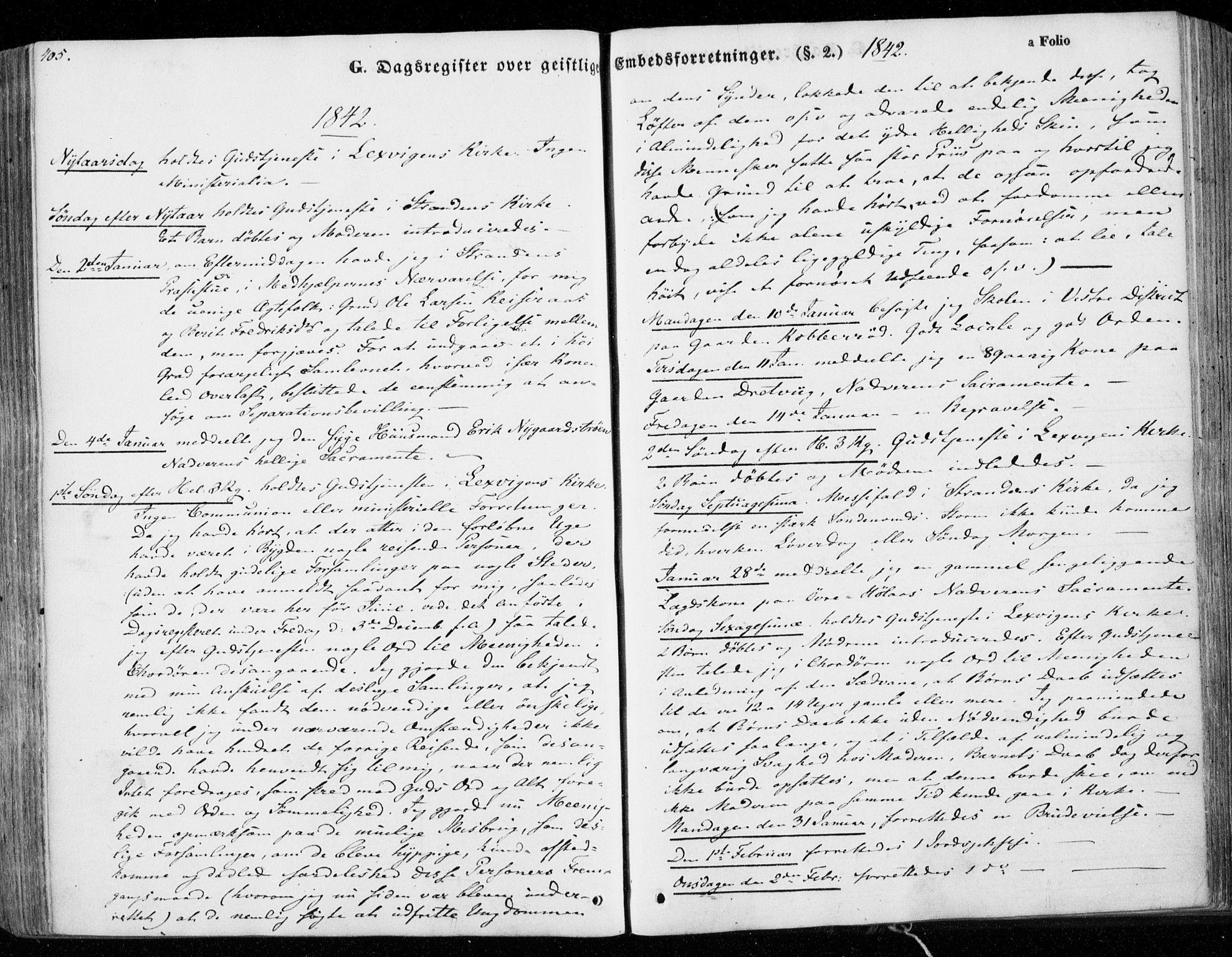 SAT, Ministerialprotokoller, klokkerbøker og fødselsregistre - Nord-Trøndelag, 701/L0007: Parish register (official) no. 701A07 /1, 1842-1854, p. 405
