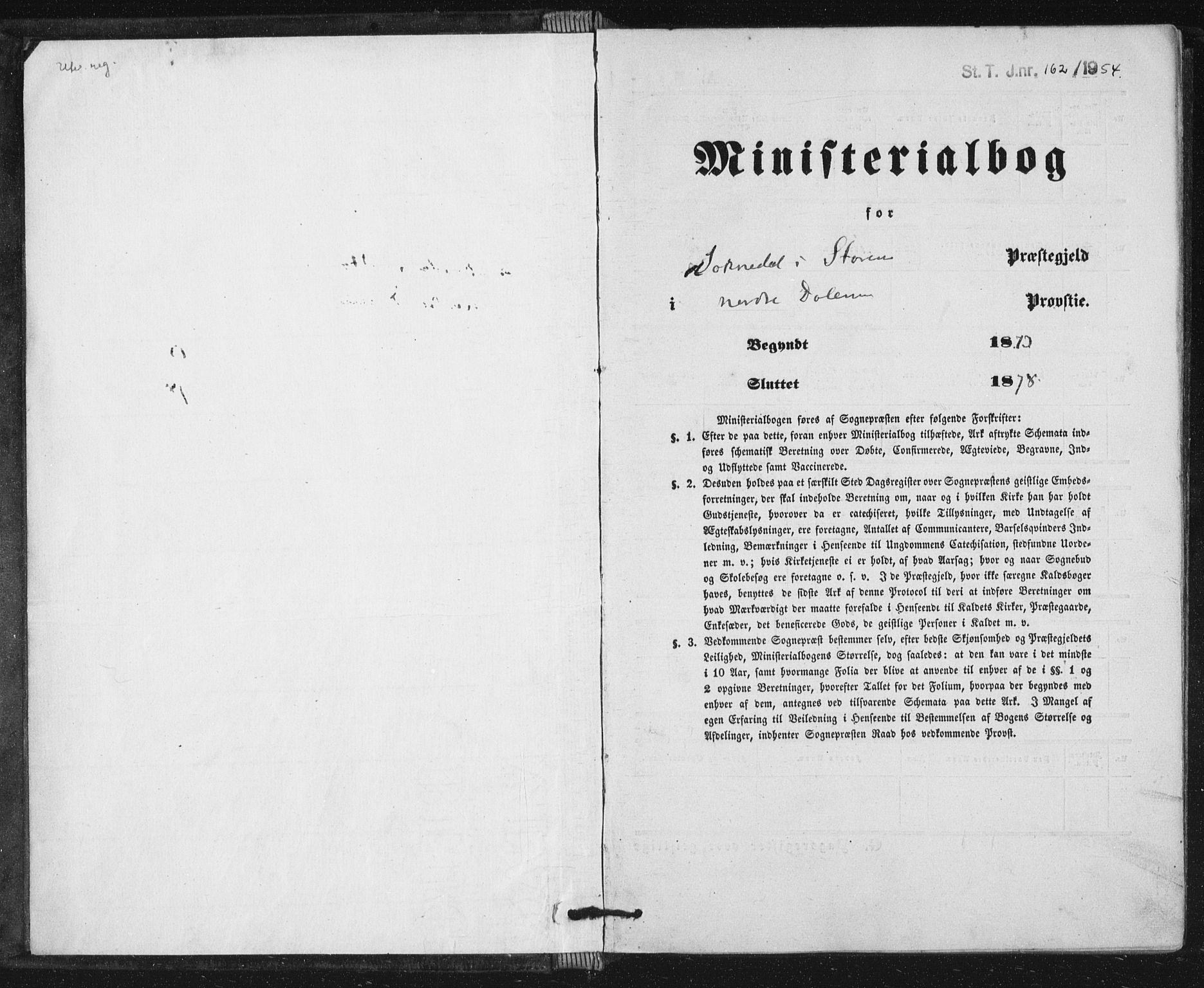 SAT, Ministerialprotokoller, klokkerbøker og fødselsregistre - Sør-Trøndelag, 689/L1039: Parish register (official) no. 689A04, 1865-1878