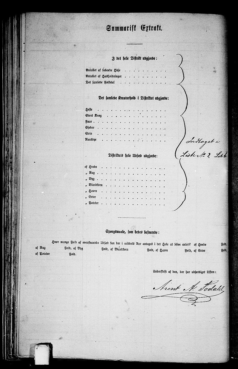 RA, 1865 census for Aure, 1865, p. 41