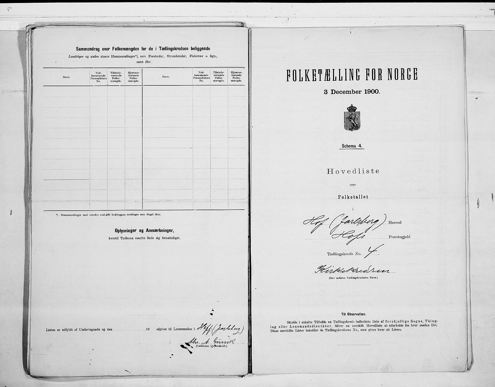 RA, 1900 census for Hof, 1900, p. 12
