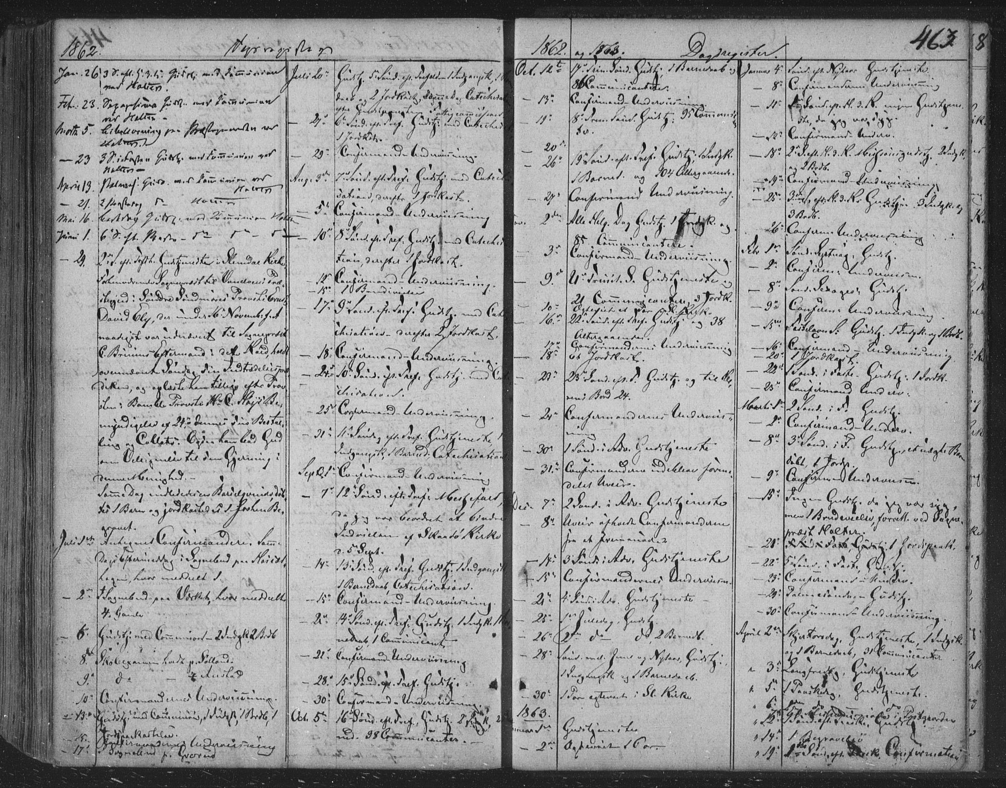 SAKO, Siljan kirkebøker, F/Fa/L0001: Parish register (official) no. 1, 1831-1870, p. 463