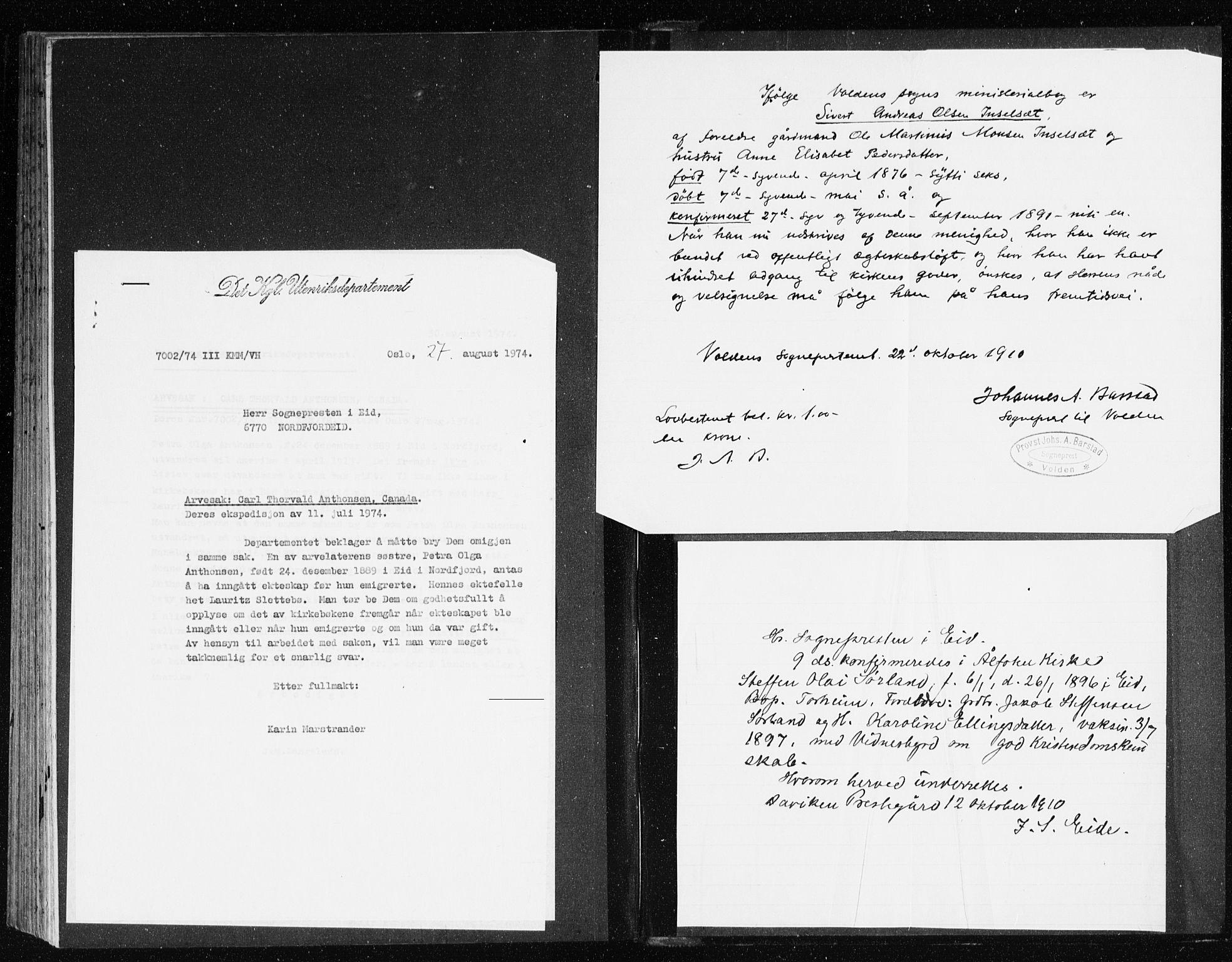 SAB, Eid Sokneprestembete, H/Haa: Parish register (official) no. C 2, 1899-1927
