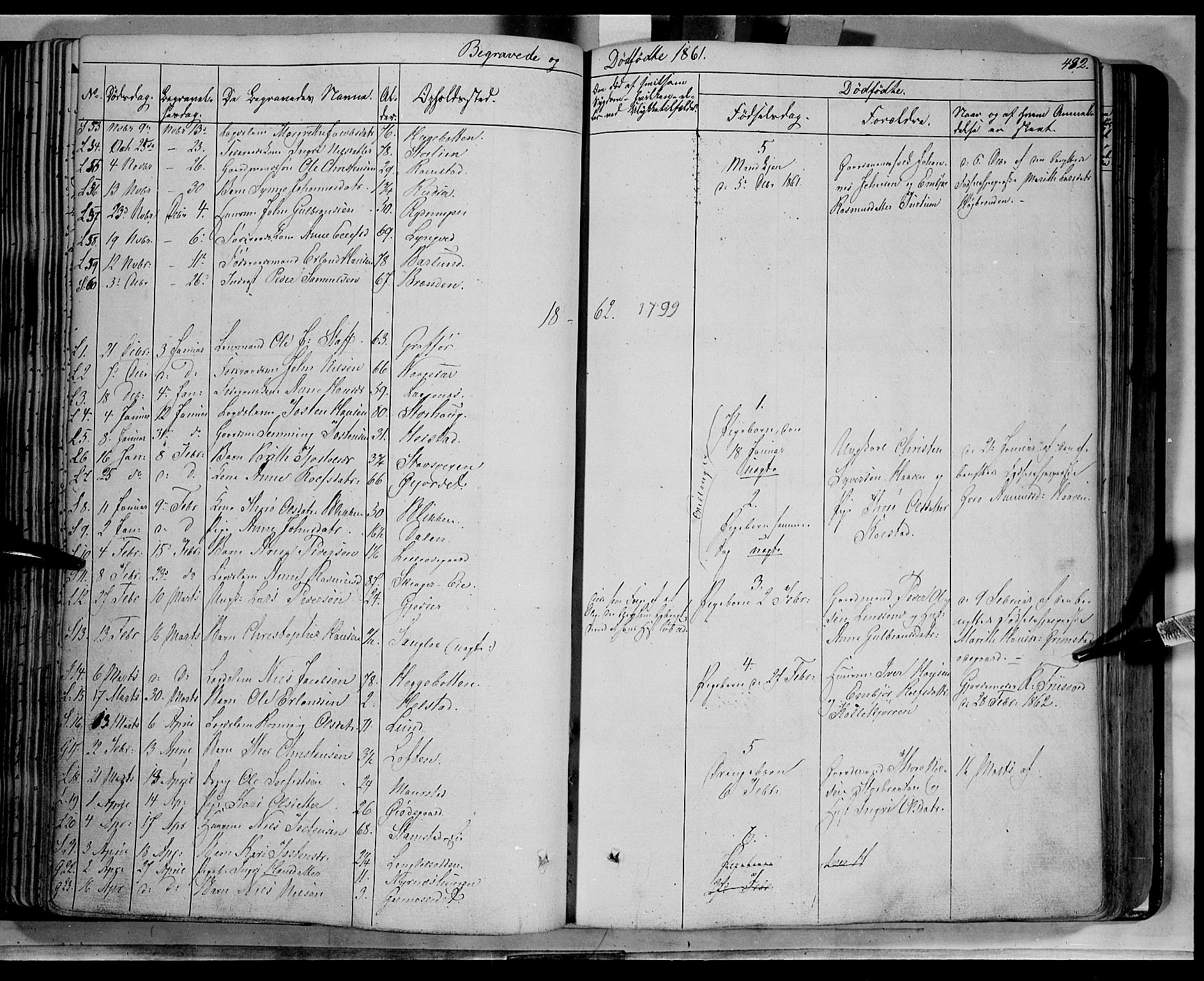 SAH, Lom prestekontor, K/L0006: Parish register (official) no. 6B, 1837-1863, p. 482