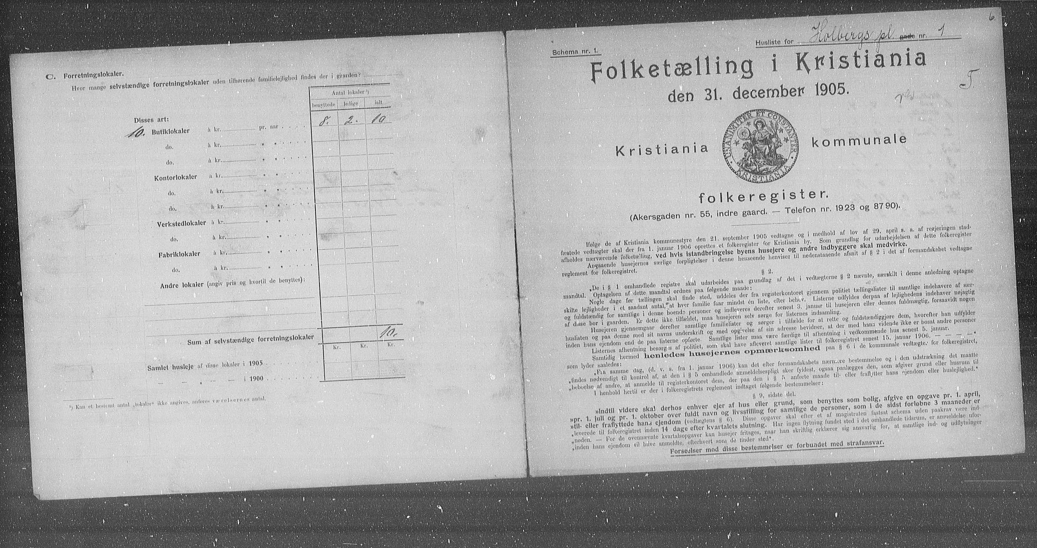 OBA, Municipal Census 1905 for Kristiania, 1905, p. 21062