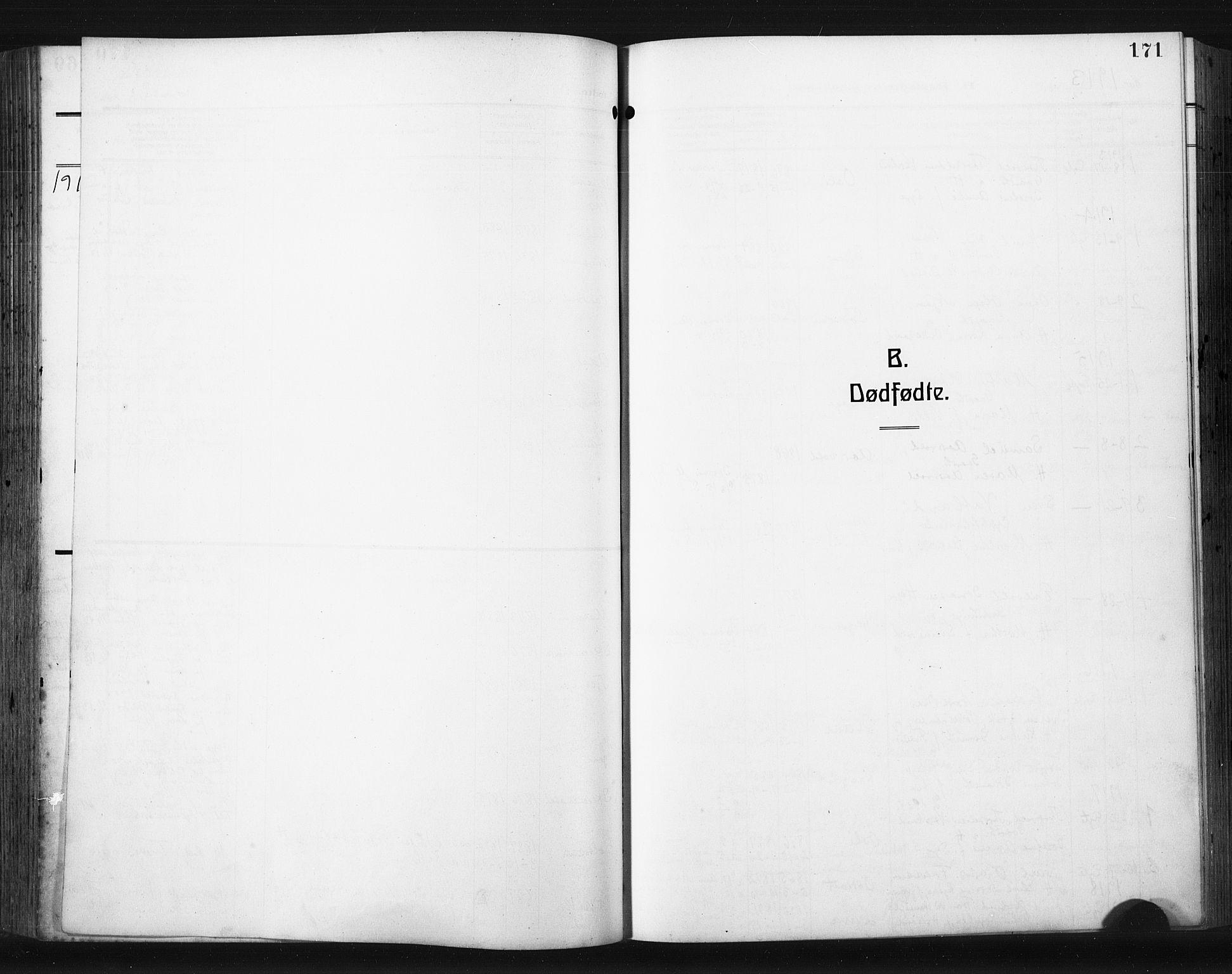 SAST, Høyland sokneprestkontor, 30BA/L0017: Parish register (official) no. A 15, 1912-1924, p. 171