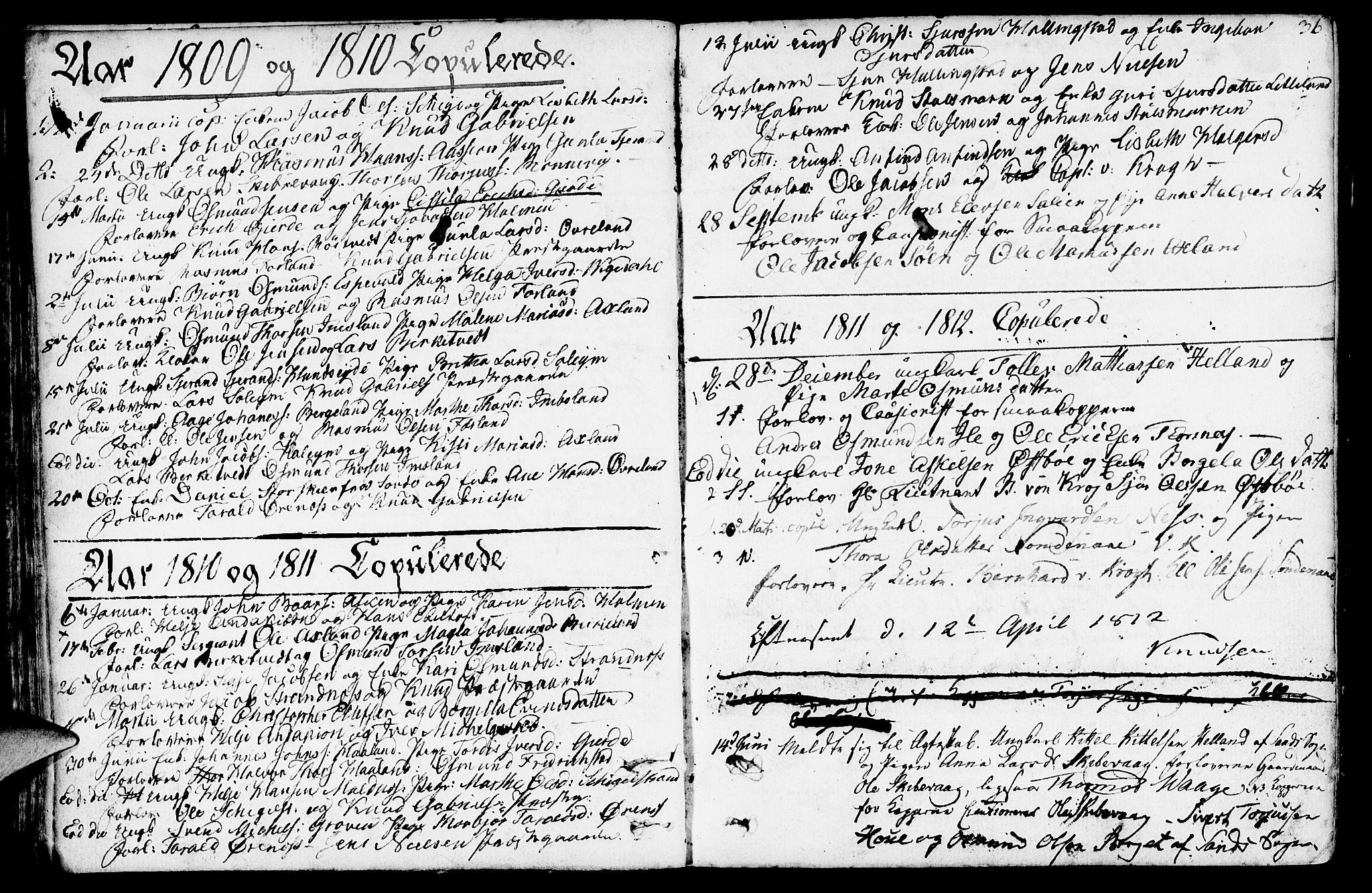 SAST, Vikedal sokneprestkontor, IV: Parish register (official) no. A 2, 1779-1817, p. 36