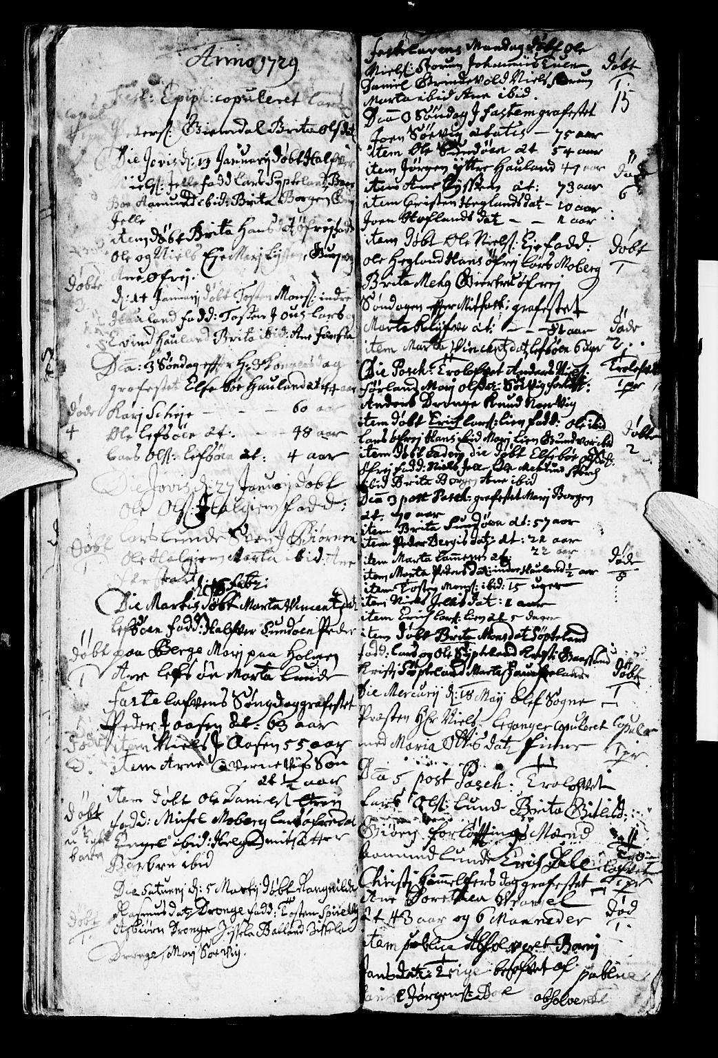 SAB, Os sokneprestembete*, Parish register (official) no. A 2, 1723-1758, p. 15