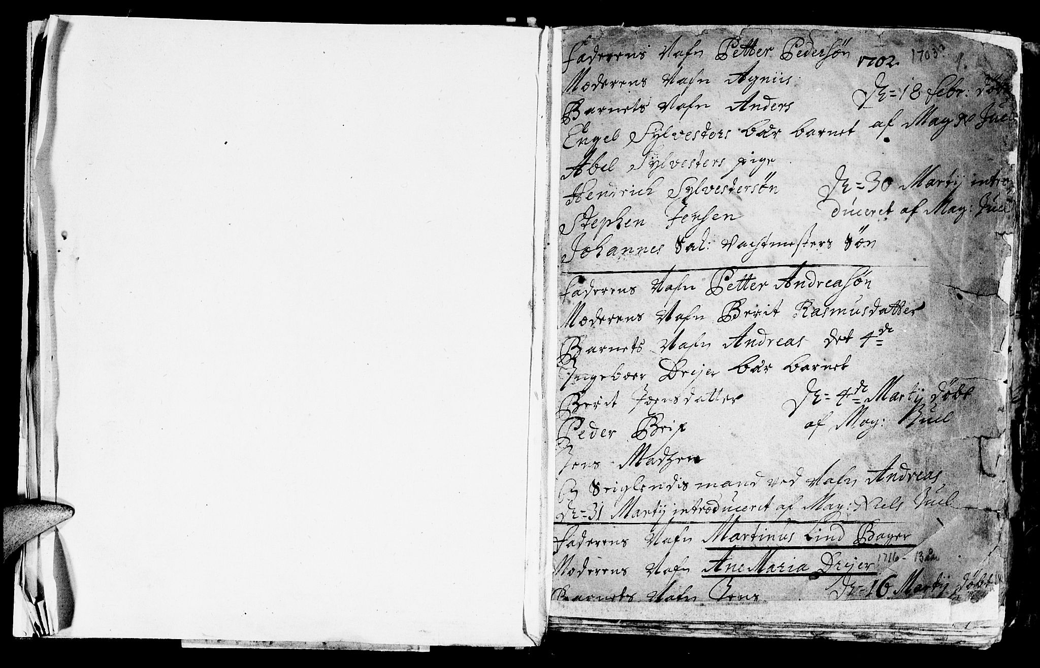 SAT, Ministerialprotokoller, klokkerbøker og fødselsregistre - Sør-Trøndelag, 601/L0034: Parish register (official) no. 601A02, 1702-1714, p. 1