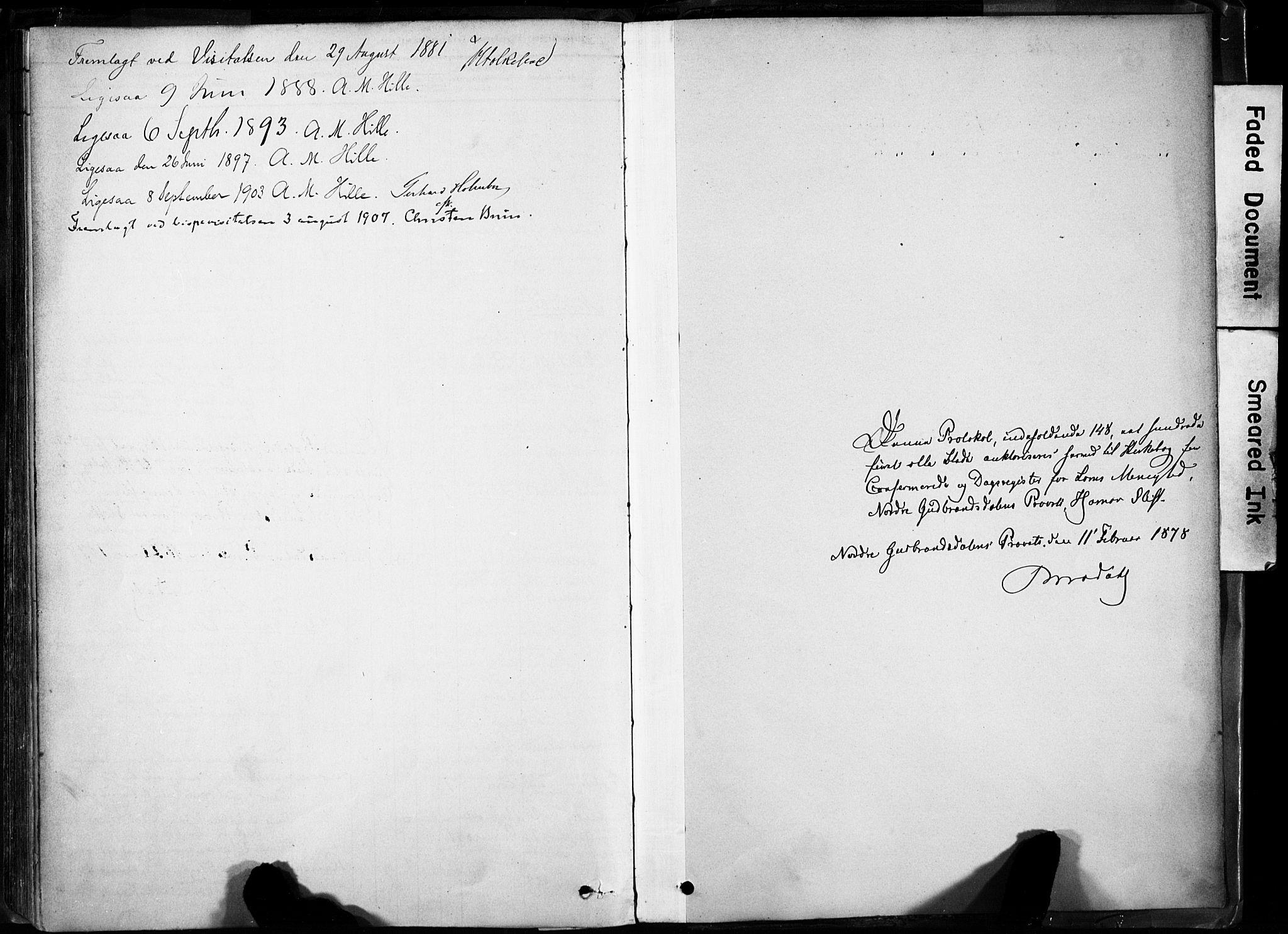 SAH, Lom prestekontor, K/L0009: Parish register (official) no. 9, 1878-1907