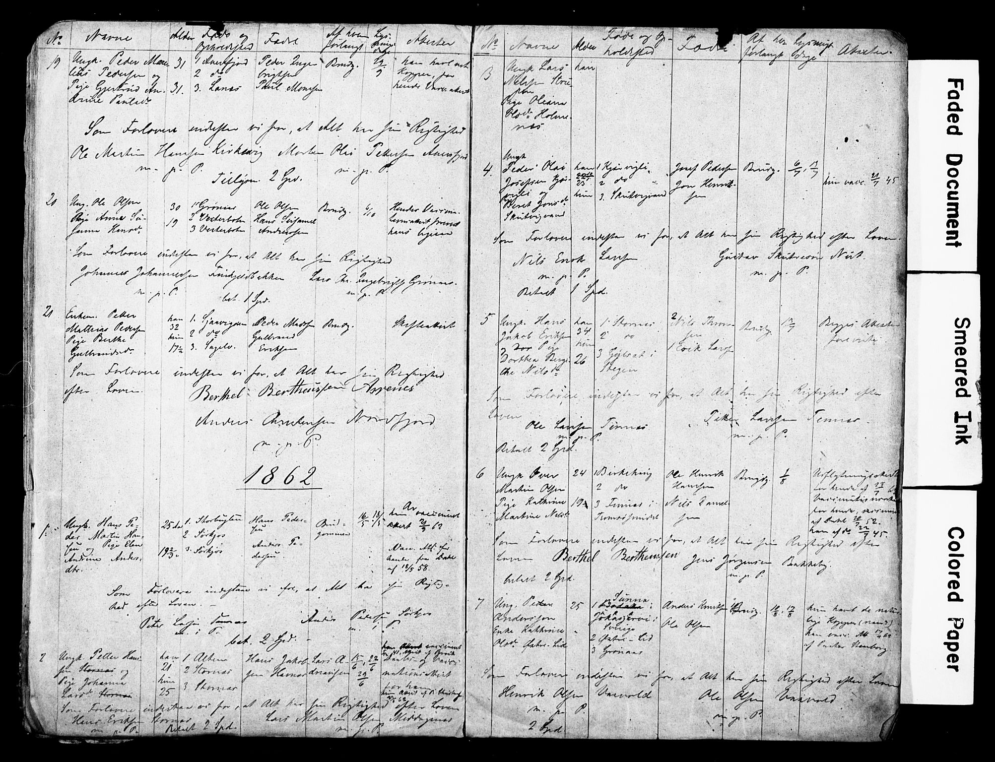 SATØ, Balsfjord sokneprestembete, Banns register no. 28, 1858-1867