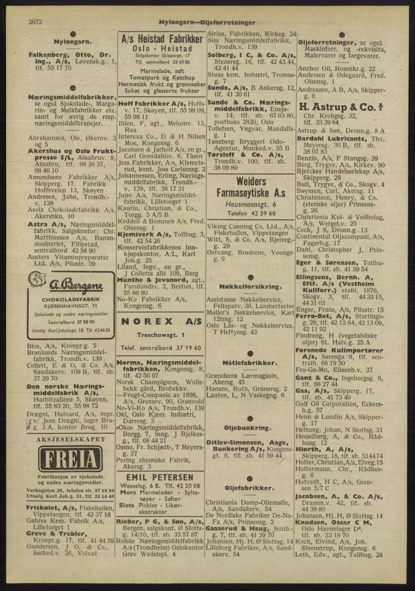 PUBL, Kristiania/Oslo adressebok, 1955, p. 2672