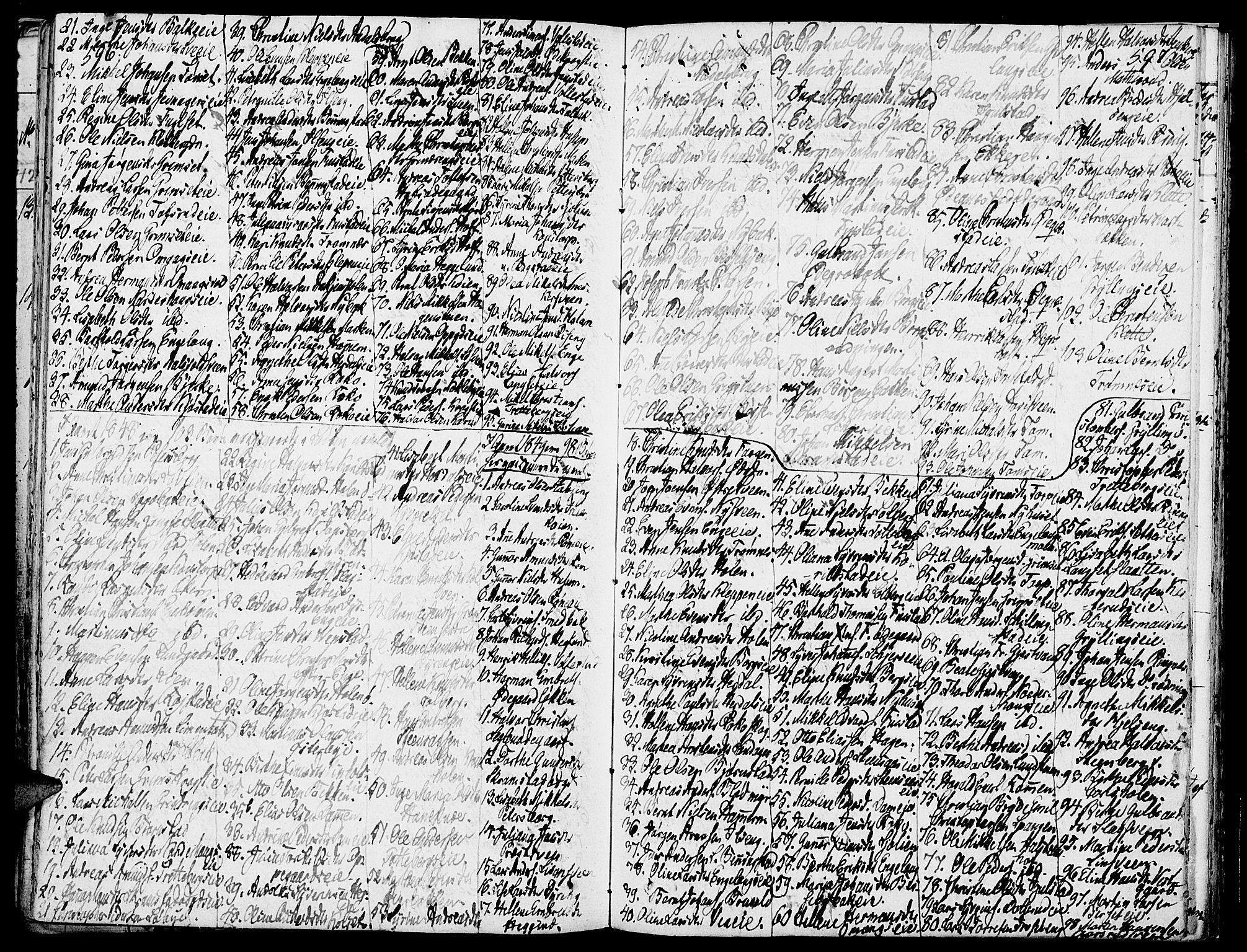 SAH, Løten prestekontor, K/Ka/L0006: Parish register (official) no. 6, 1832-1849, p. 596-597