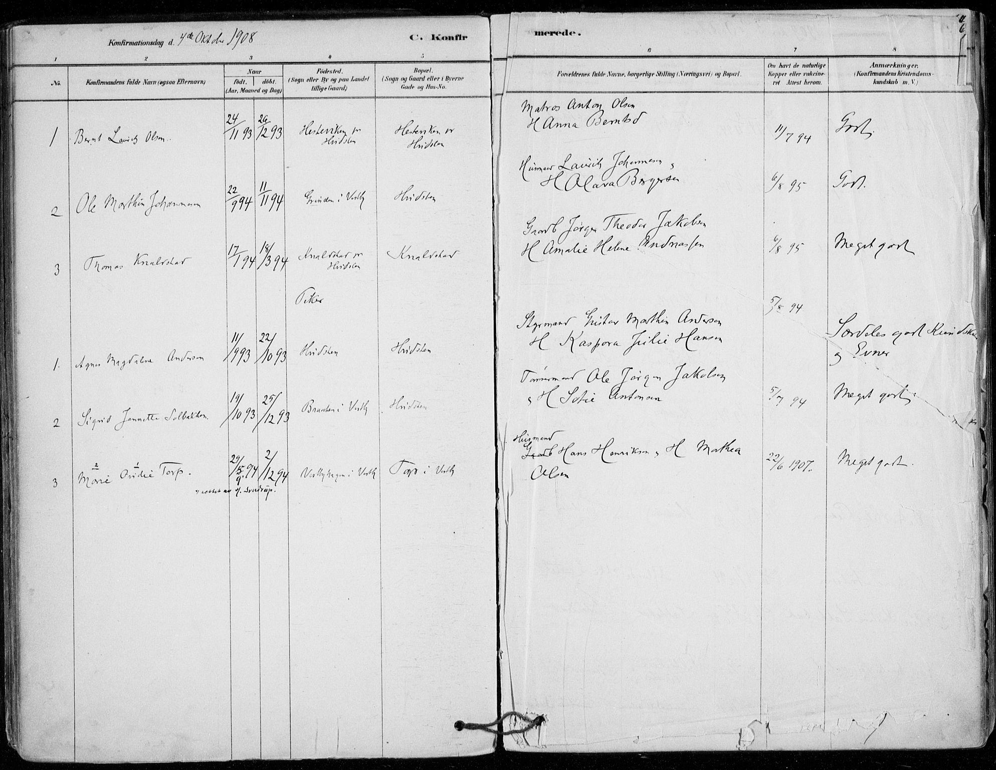 SAO, Vestby prestekontor Kirkebøker, F/Fd/L0001: Parish register (official) no. IV 1, 1878-1945, p. 63