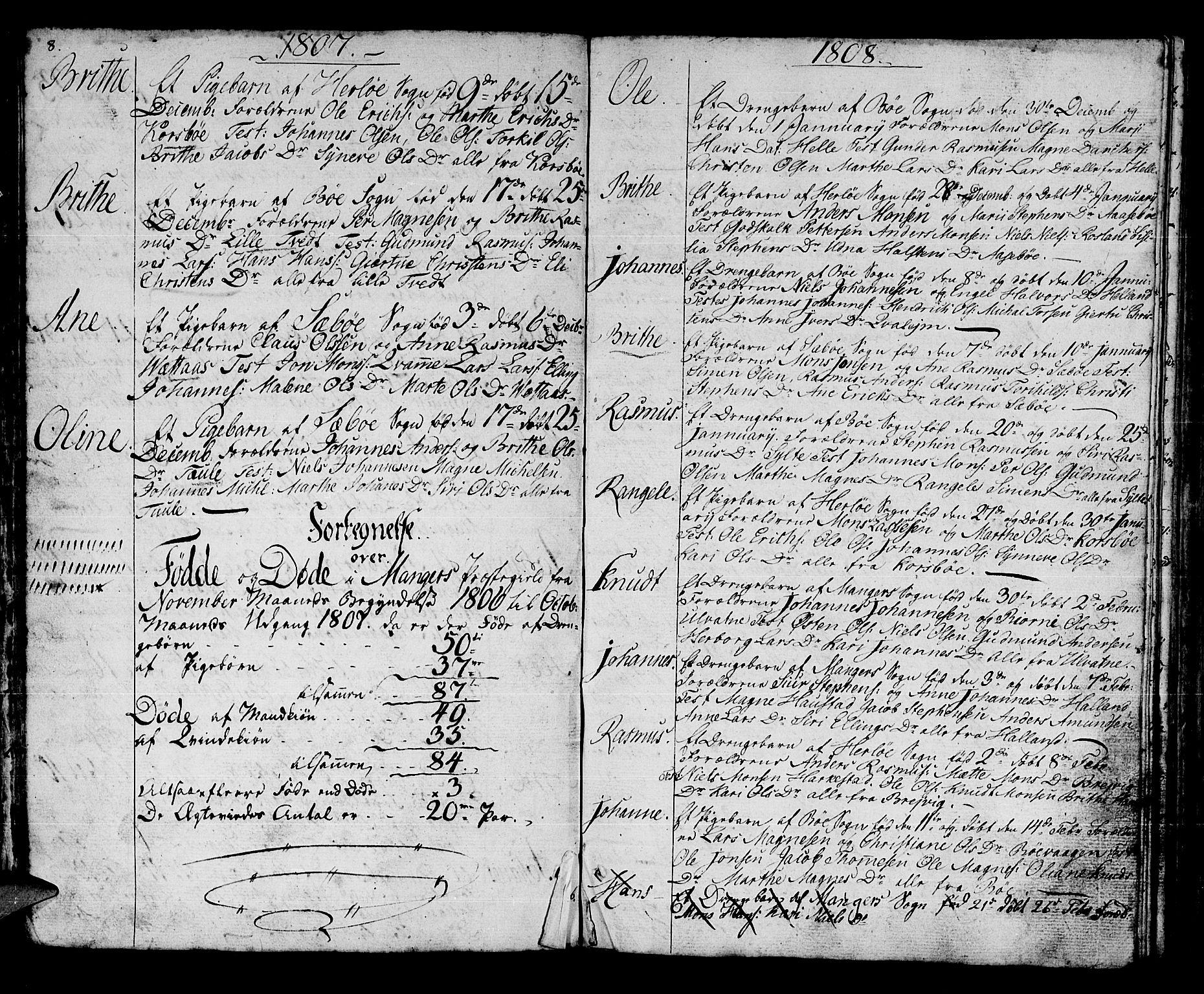 SAB, Manger sokneprestembete, H/Haa: Parish register (official) no. A 2, 1792-1815, p. 104