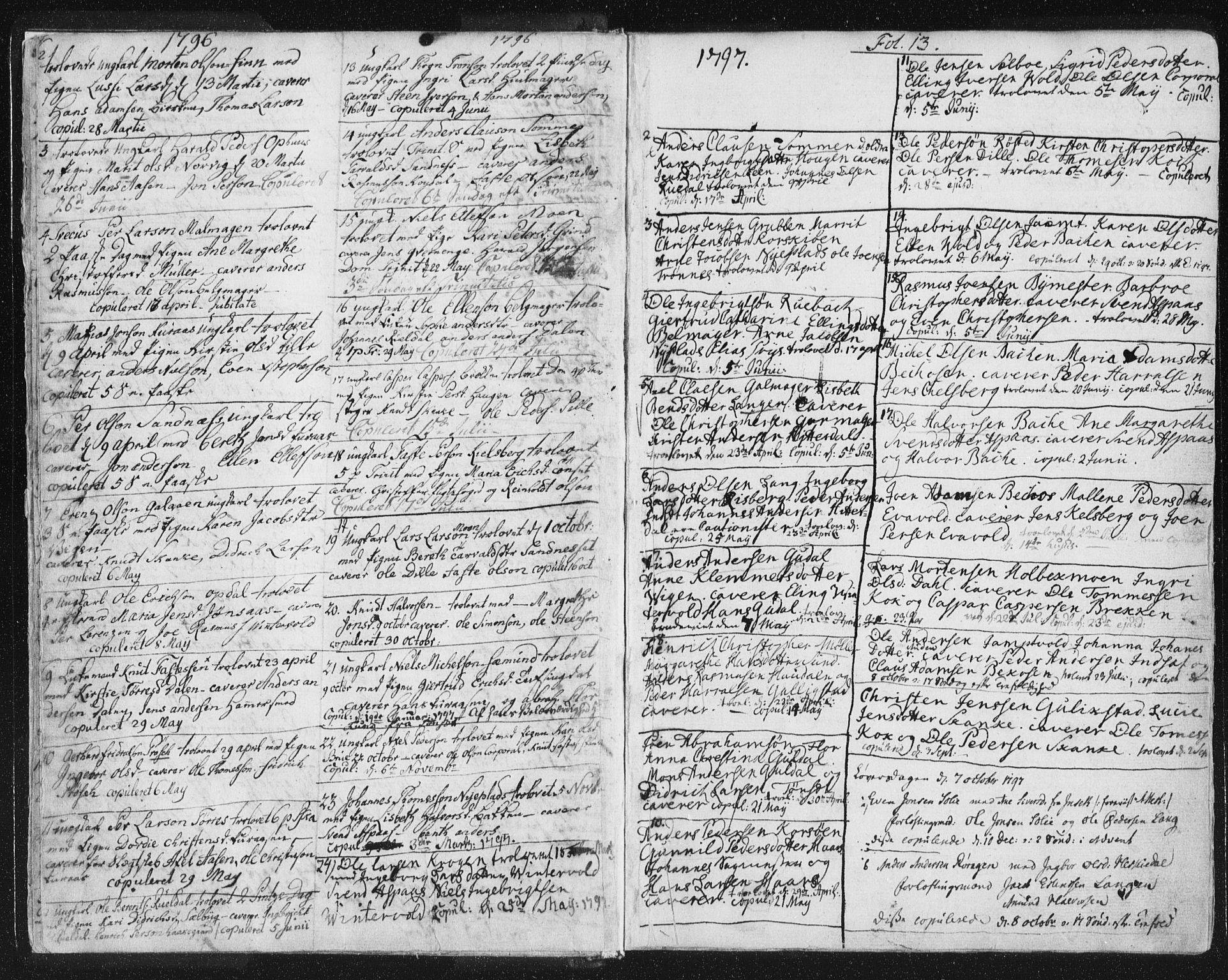SAT, Ministerialprotokoller, klokkerbøker og fødselsregistre - Sør-Trøndelag, 681/L0926: Parish register (official) no. 681A04, 1767-1797, p. 13