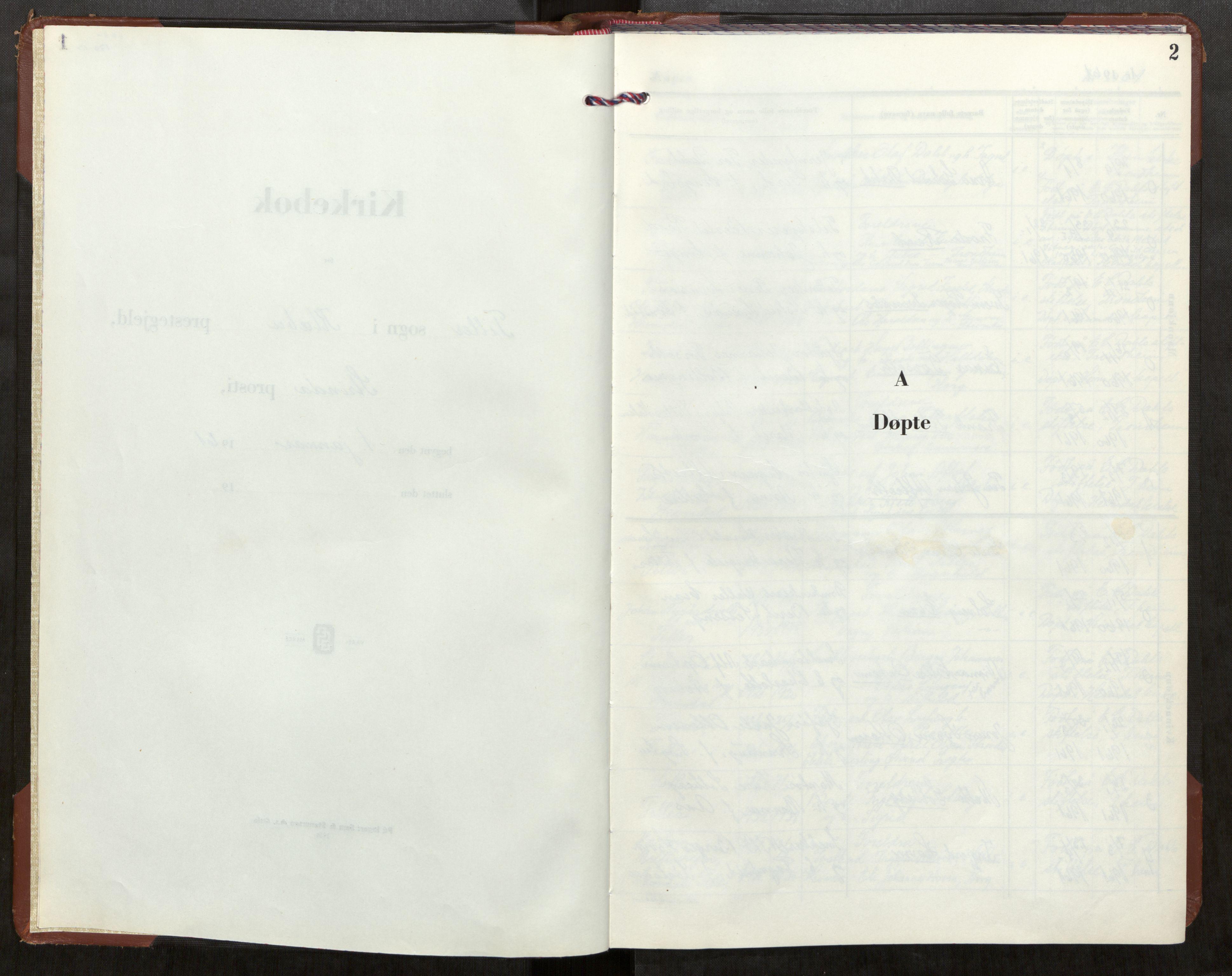 SAT, Klæbu sokneprestkontor, Parish register (official) no. 5, 1961-1967, p. 2