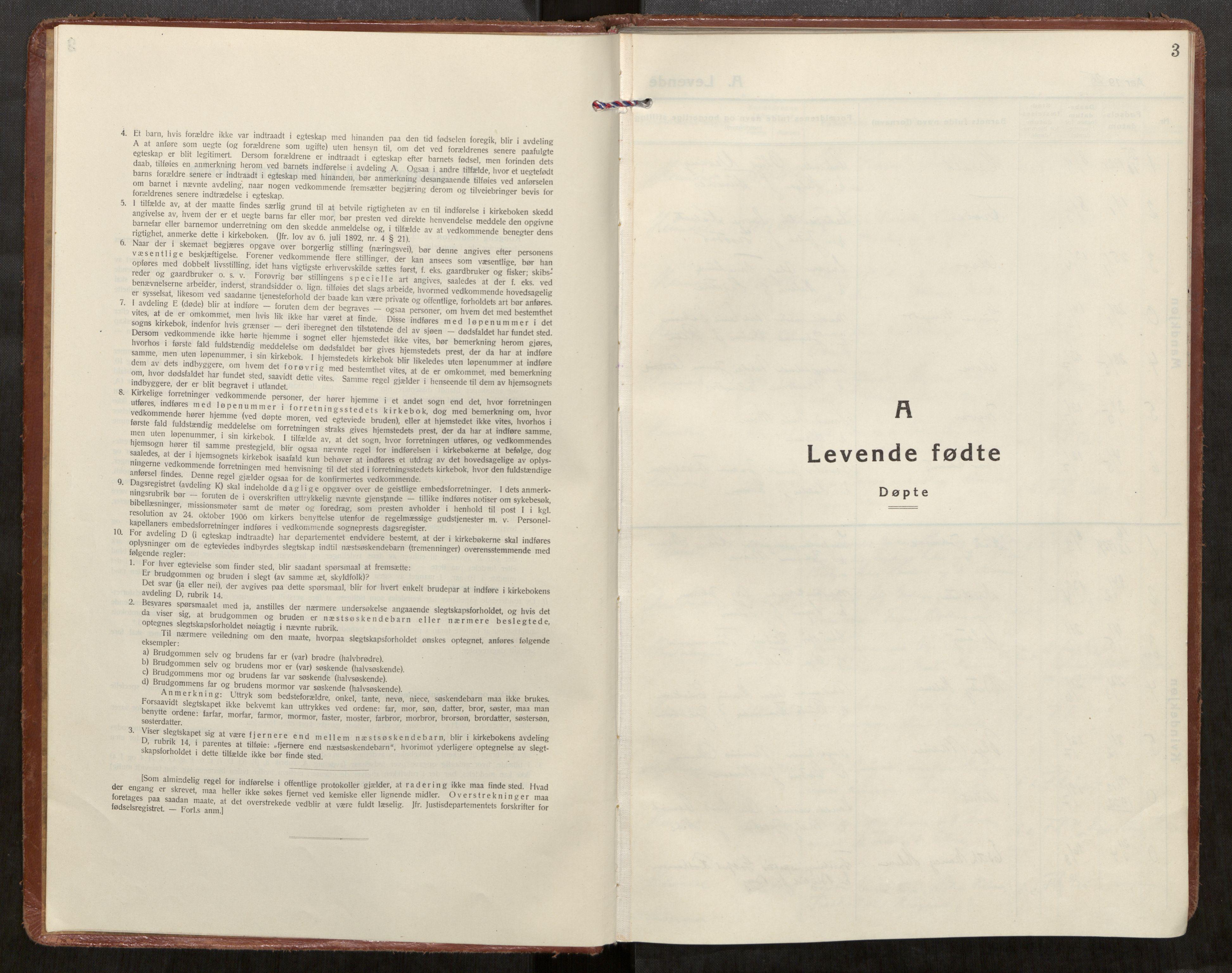 SAT, Klæbu sokneprestkontor, Parish register (official) no. 4, 1925-1943, p. 3