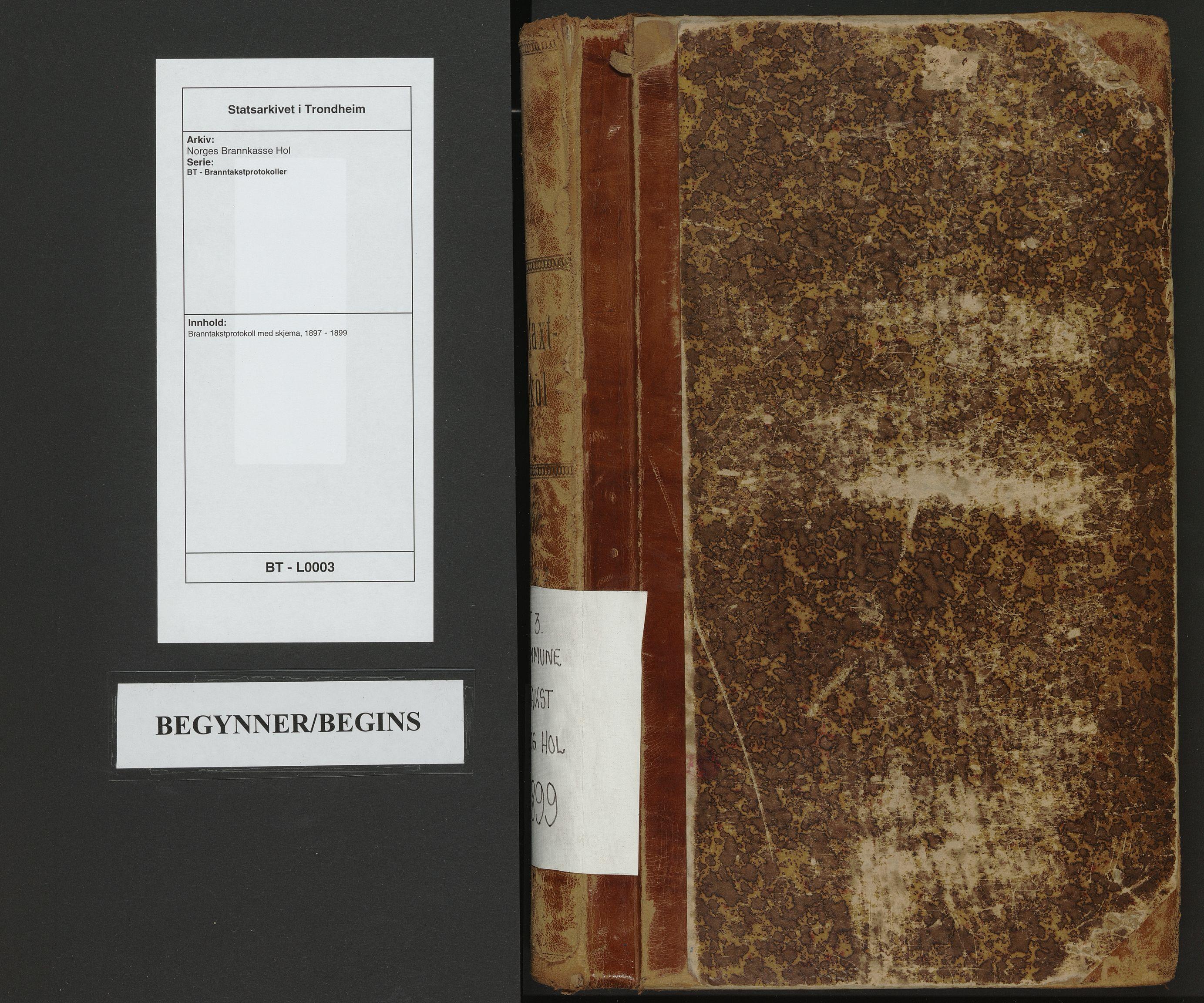 SAT, Norges Brannkasse Hol, BT/L0003: Branntakstprotokoll med skjema, 1897-1899