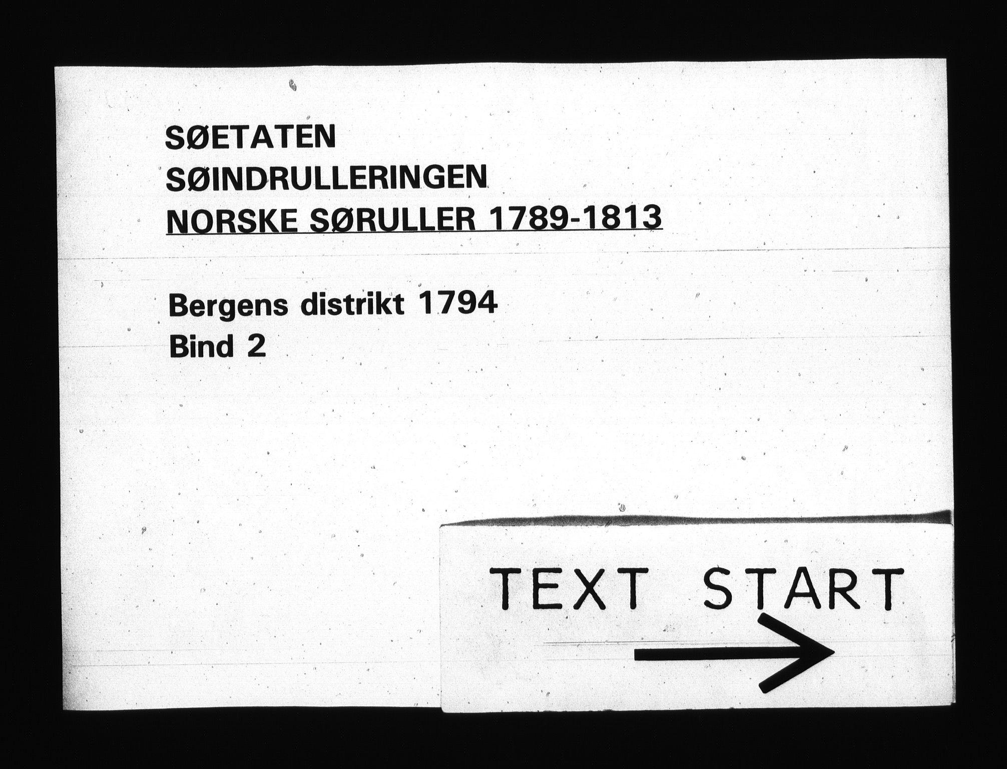 RA, Sjøetaten, F/L0219: Bergen distrikt, bind 2, 1794