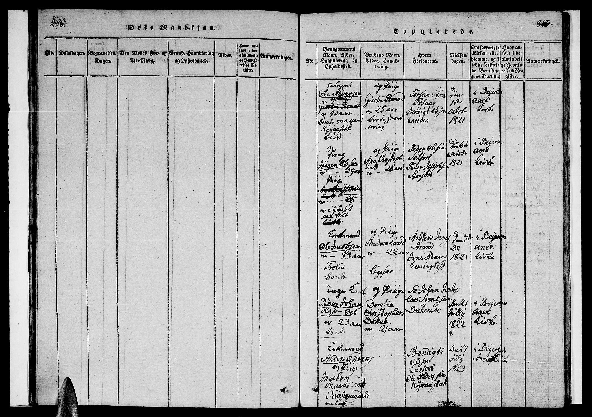 SAT, Ministerialprotokoller, klokkerbøker og fødselsregistre - Nordland, 846/L0651: Parish register (copy) no. 846C01, 1821-1841, p. 362-363