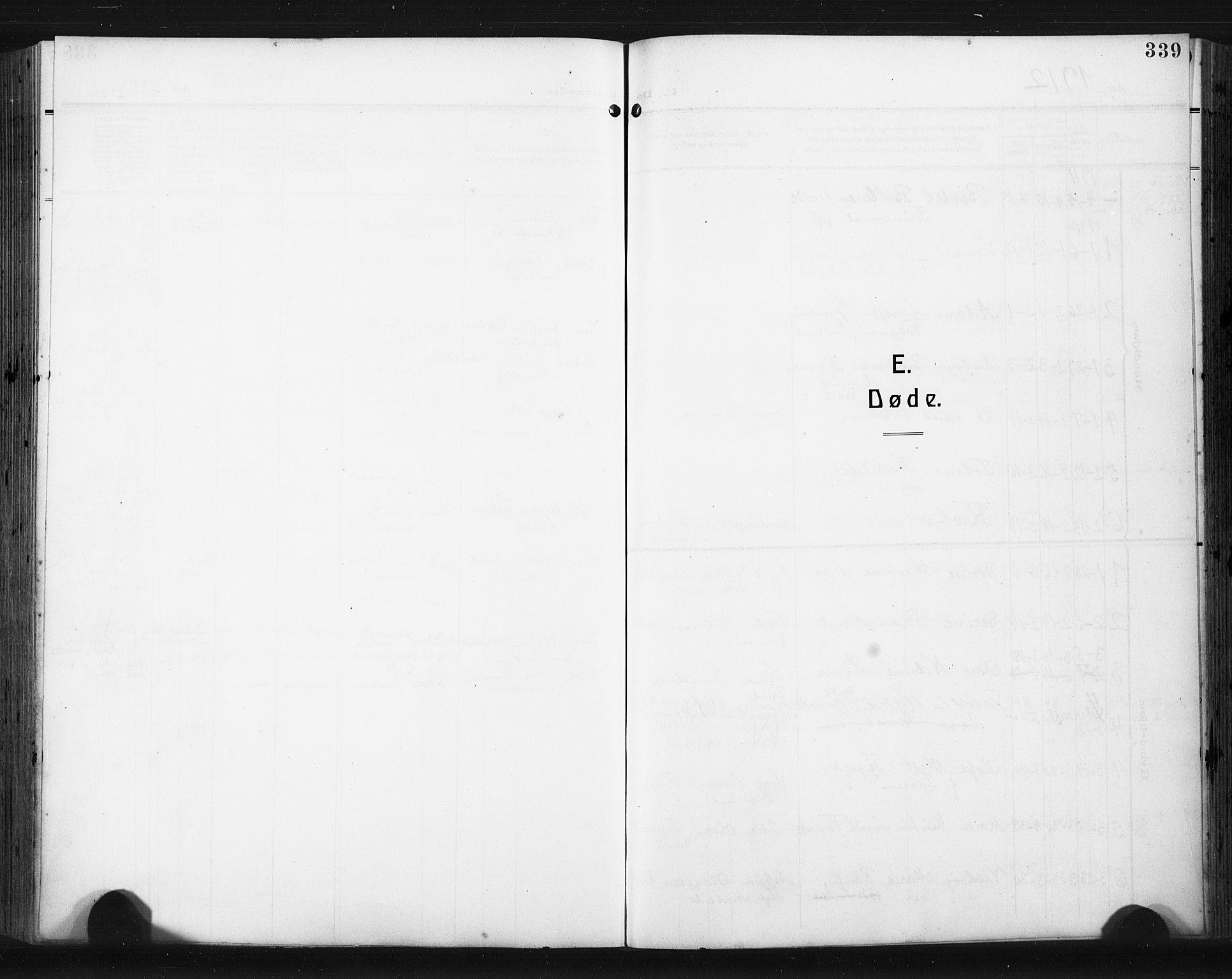 SAST, Høyland sokneprestkontor, 30BA/L0017: Parish register (official) no. A 15, 1912-1924, p. 339