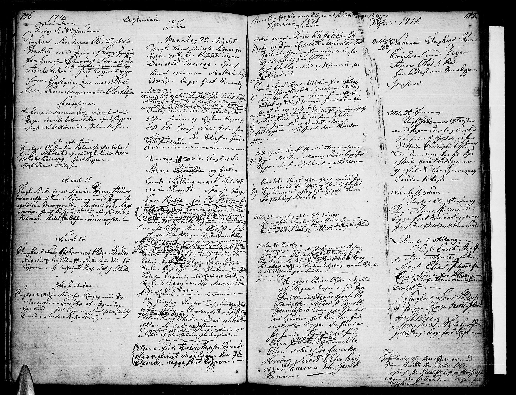 SAT, Ministerialprotokoller, klokkerbøker og fødselsregistre - Nordland, 859/L0841: Parish register (official) no. 859A01, 1766-1821, p. 176-177