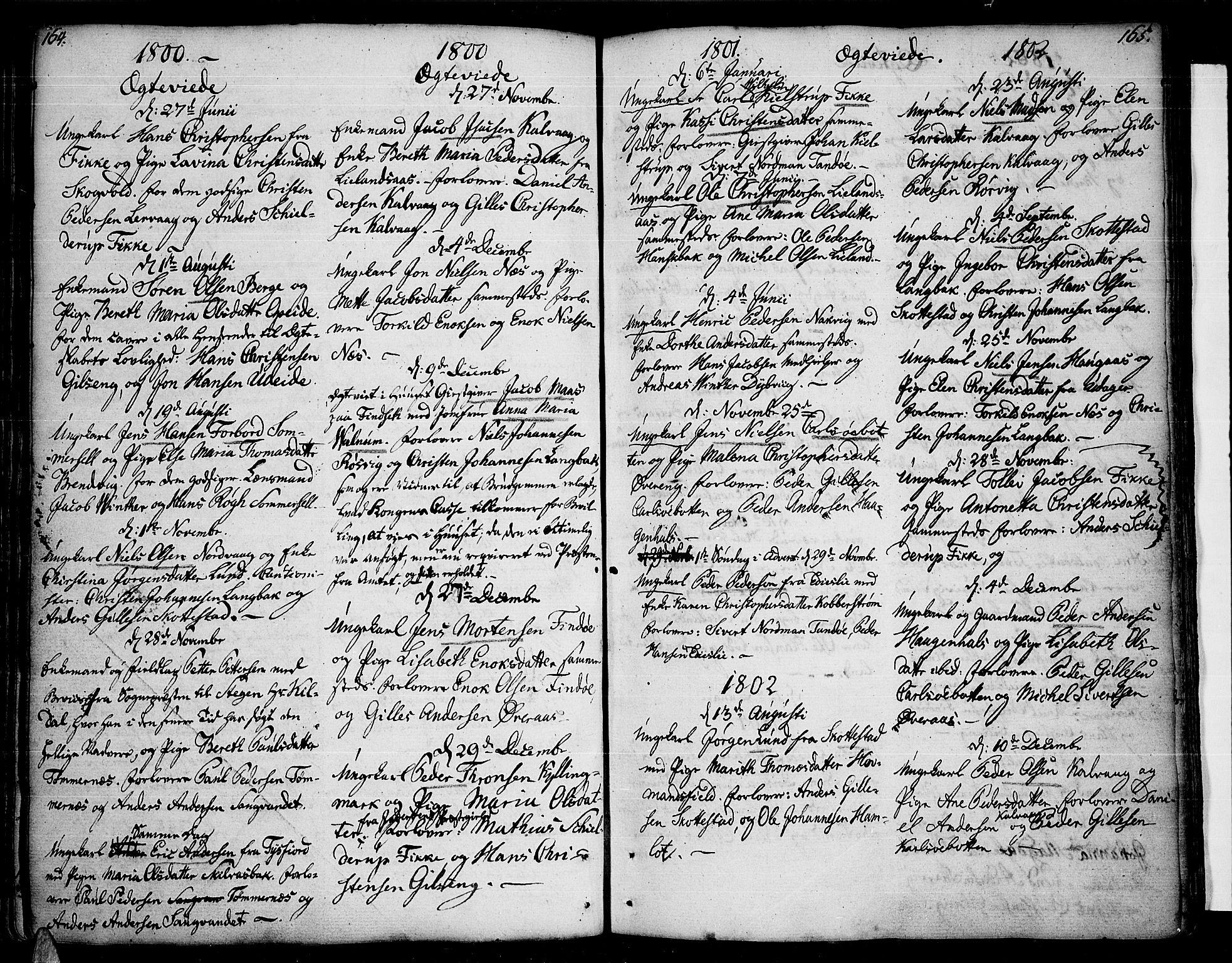 SAT, Ministerialprotokoller, klokkerbøker og fødselsregistre - Nordland, 859/L0841: Parish register (official) no. 859A01, 1766-1821, p. 164-165