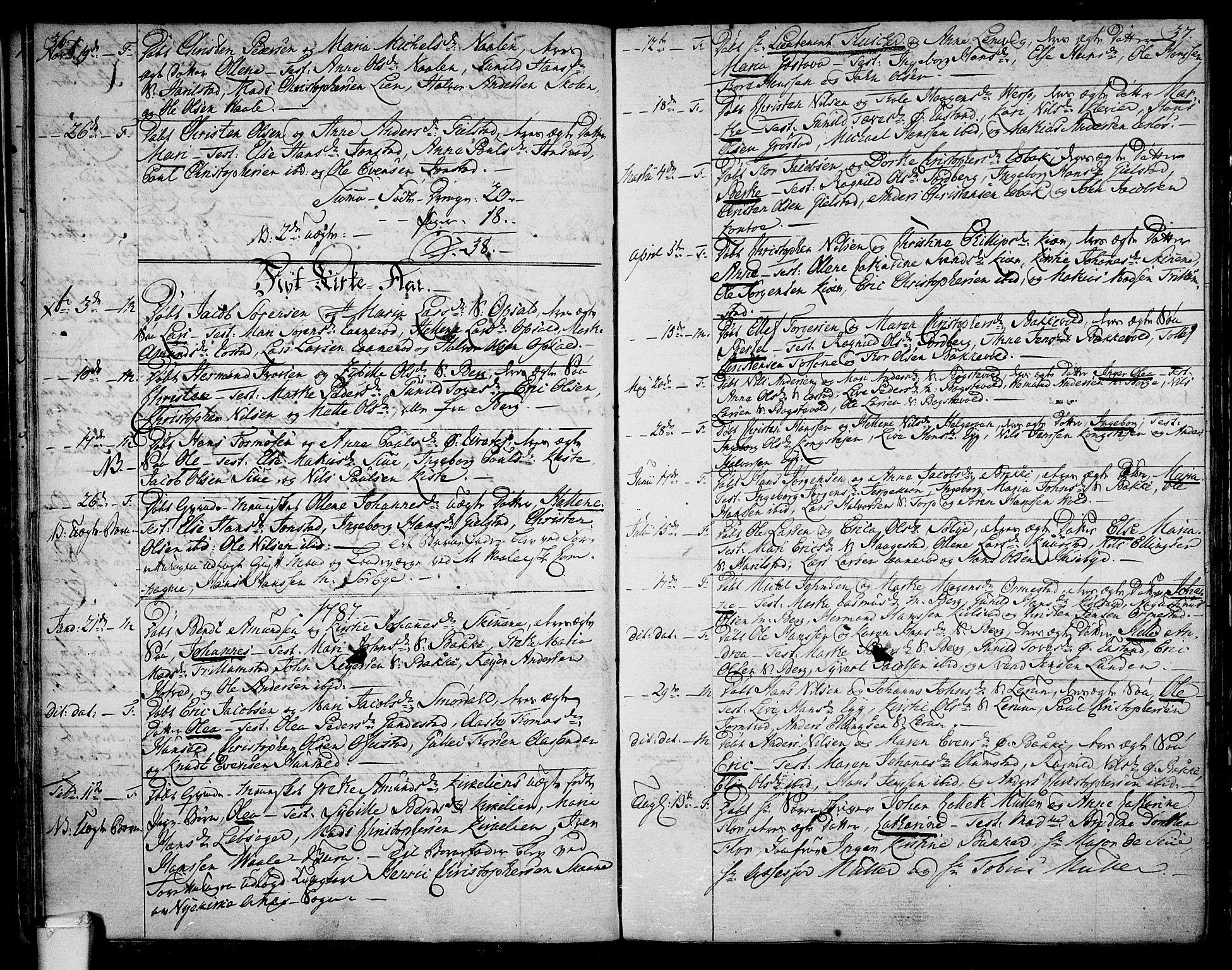 SAKO, Våle kirkebøker, F/Fa/L0005: Parish register (official) no. I 5, 1773-1808, p. 36-37