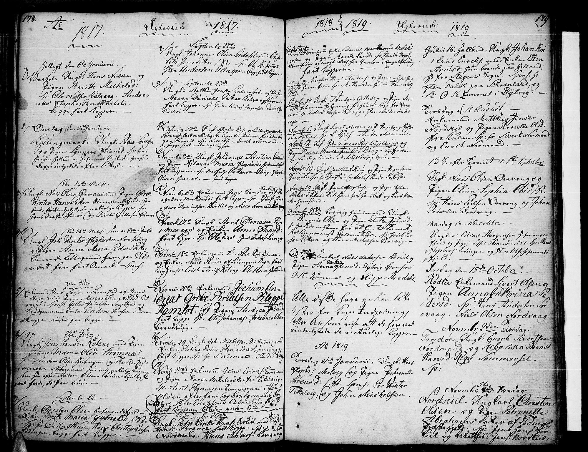 SAT, Ministerialprotokoller, klokkerbøker og fødselsregistre - Nordland, 859/L0841: Parish register (official) no. 859A01, 1766-1821, p. 178-179