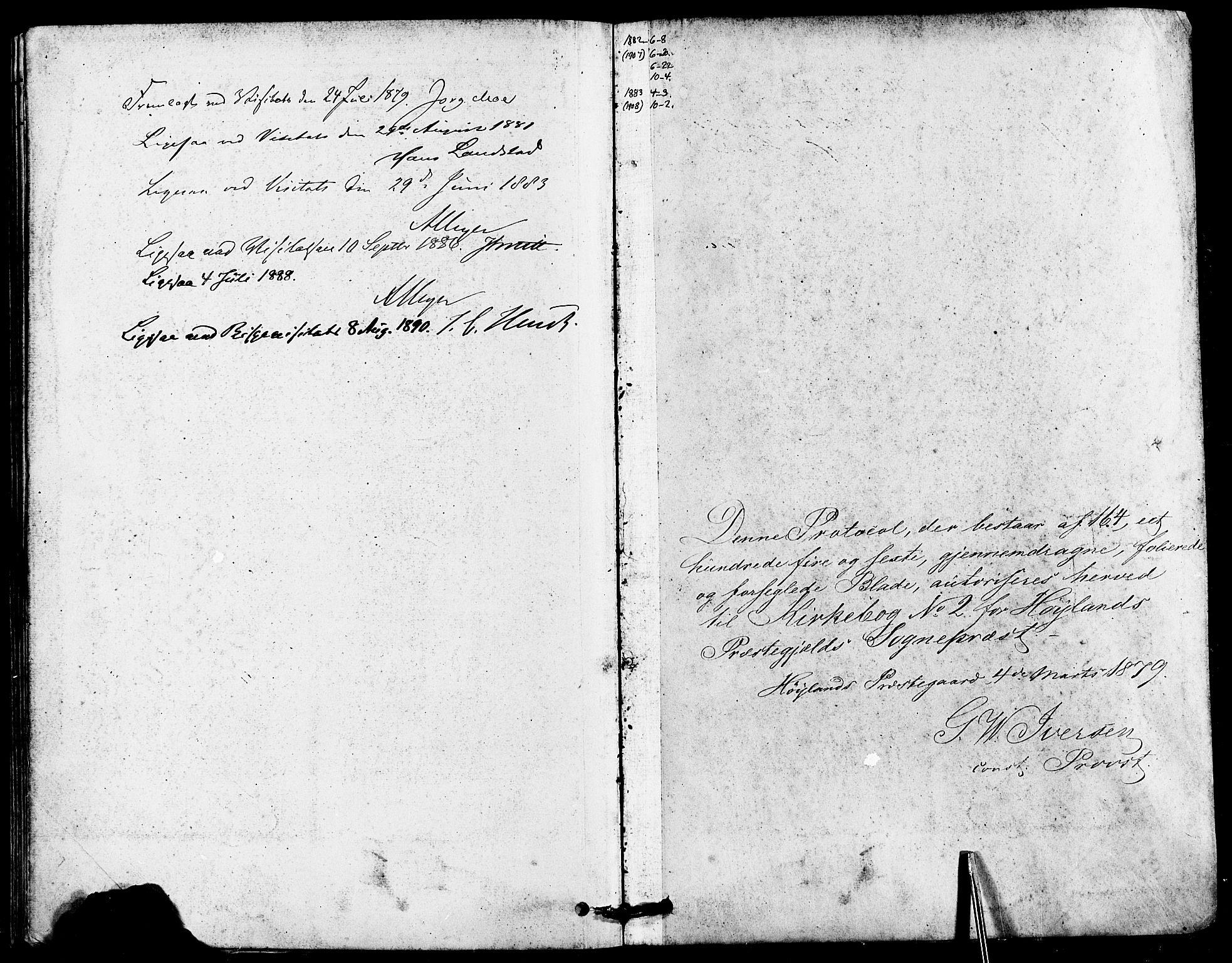 SAST, Høyland sokneprestkontor, 30BA/L0012: Parish register (official) no. A 11, 1878-1889