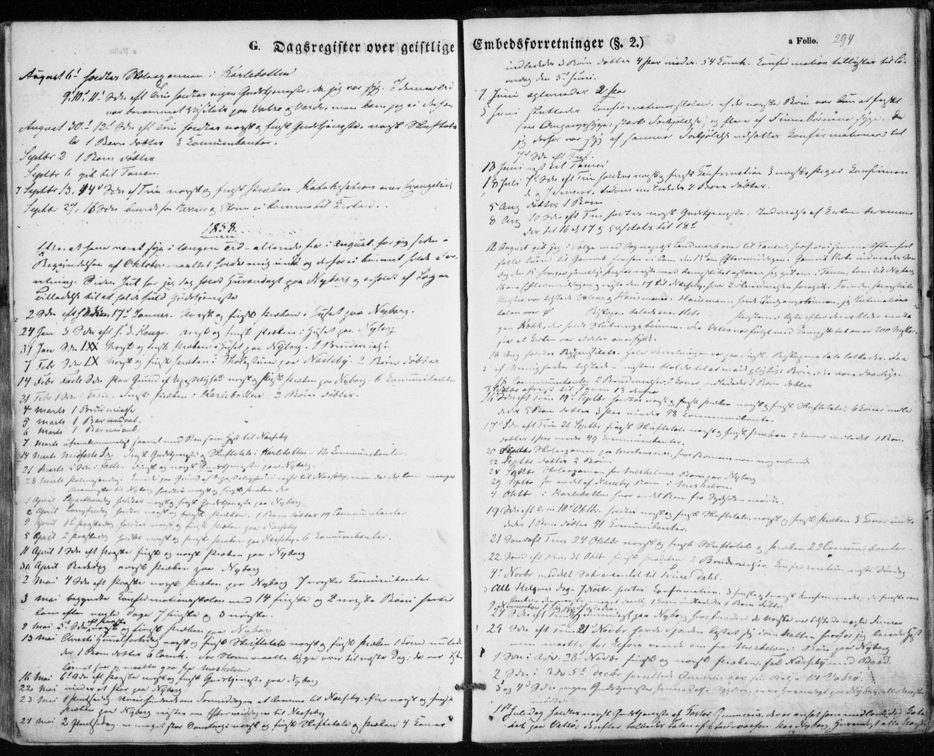 SATØ, Nesseby sokneprestkontor, H/Ha/L0002kirke: Parish register (official) no. 2, 1856-1864, p. 294