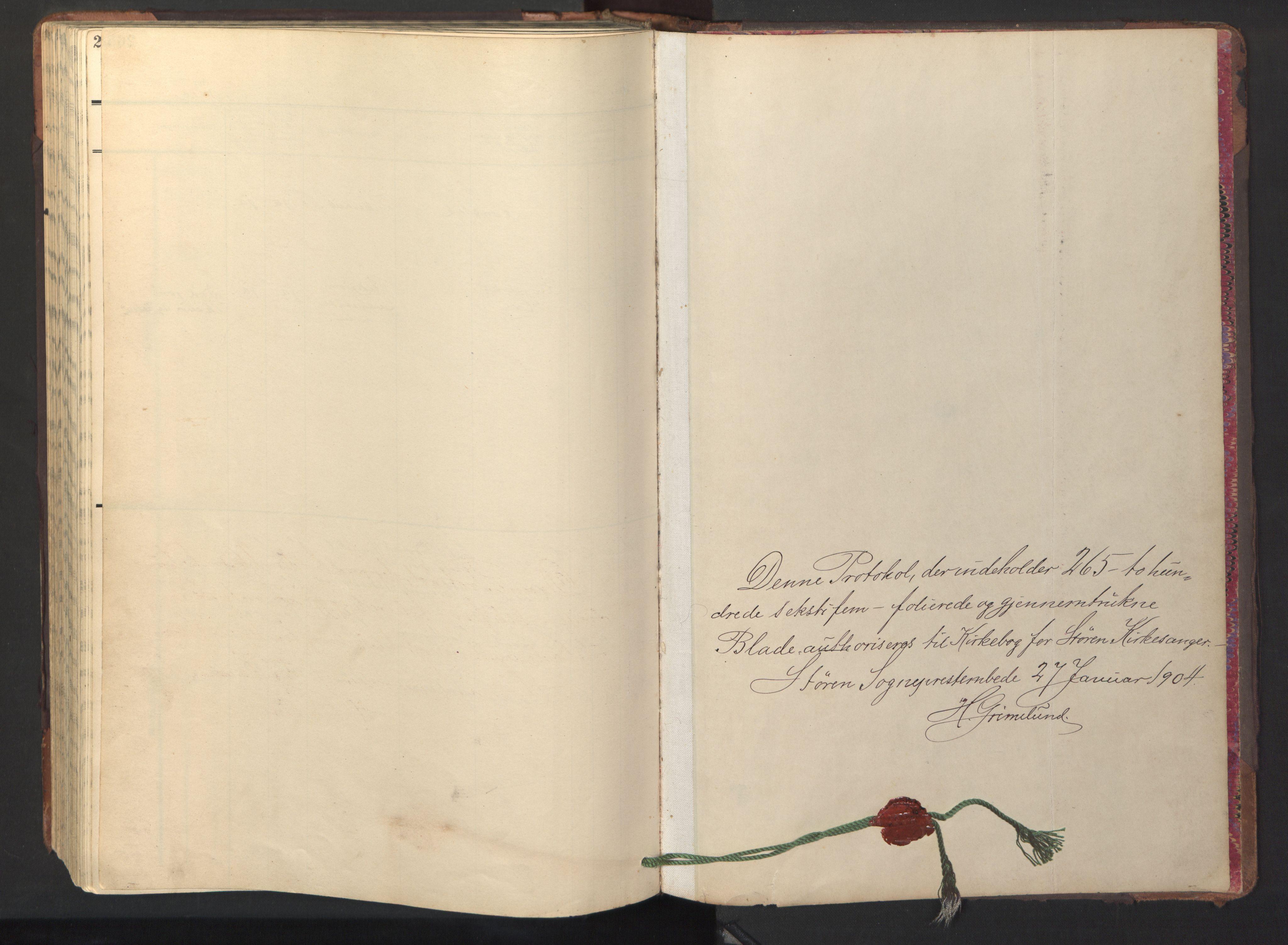 SAT, Ministerialprotokoller, klokkerbøker og fødselsregistre - Sør-Trøndelag, 687/L1019: Parish register (copy) no. 687C03, 1904-1931