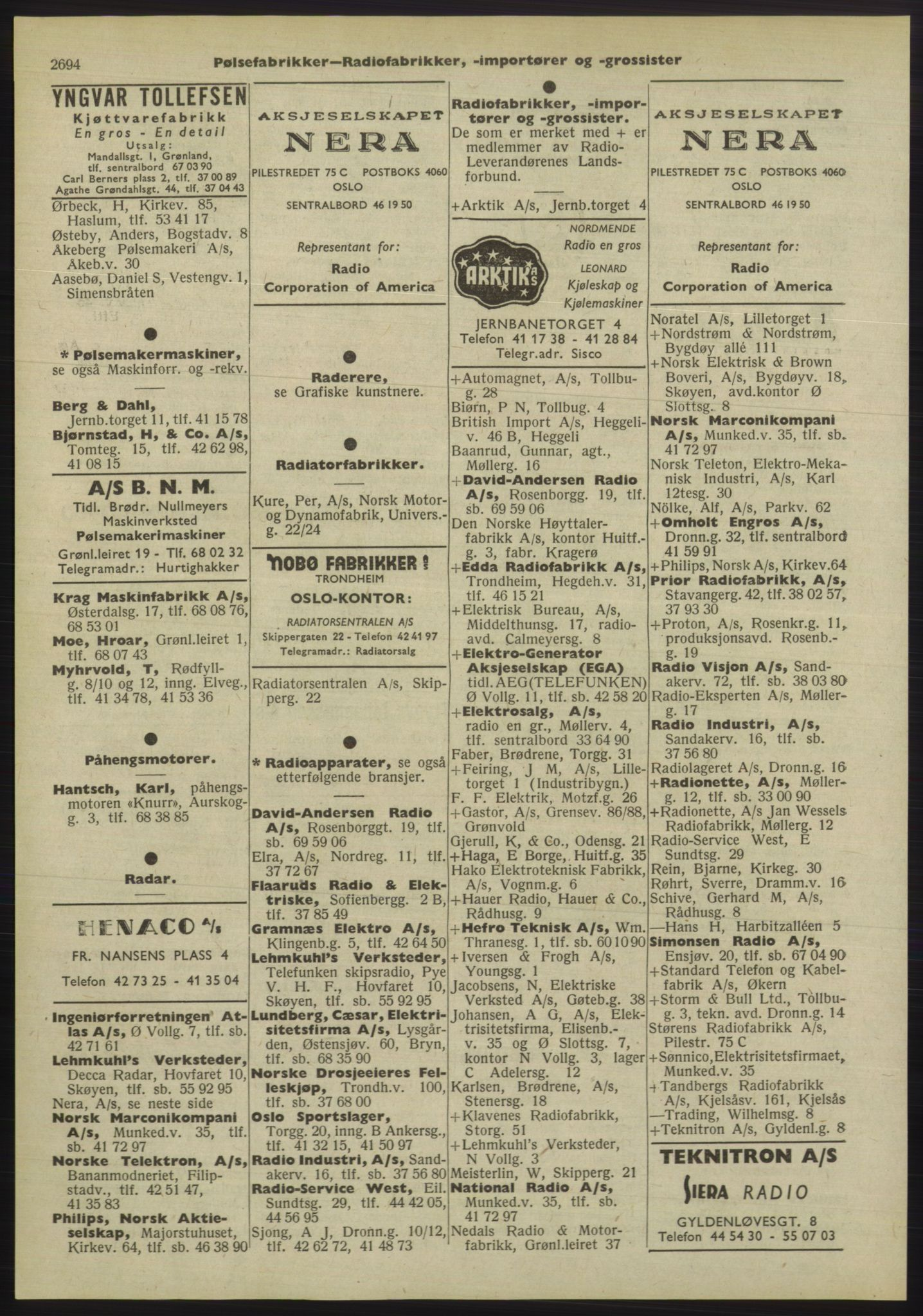 PUBL, Kristiania/Oslo adressebok, 1955, p. 2694