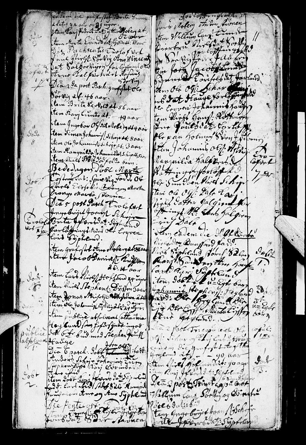 SAB, Os sokneprestembete*, Parish register (official) no. A 2, 1723-1758, p. 11