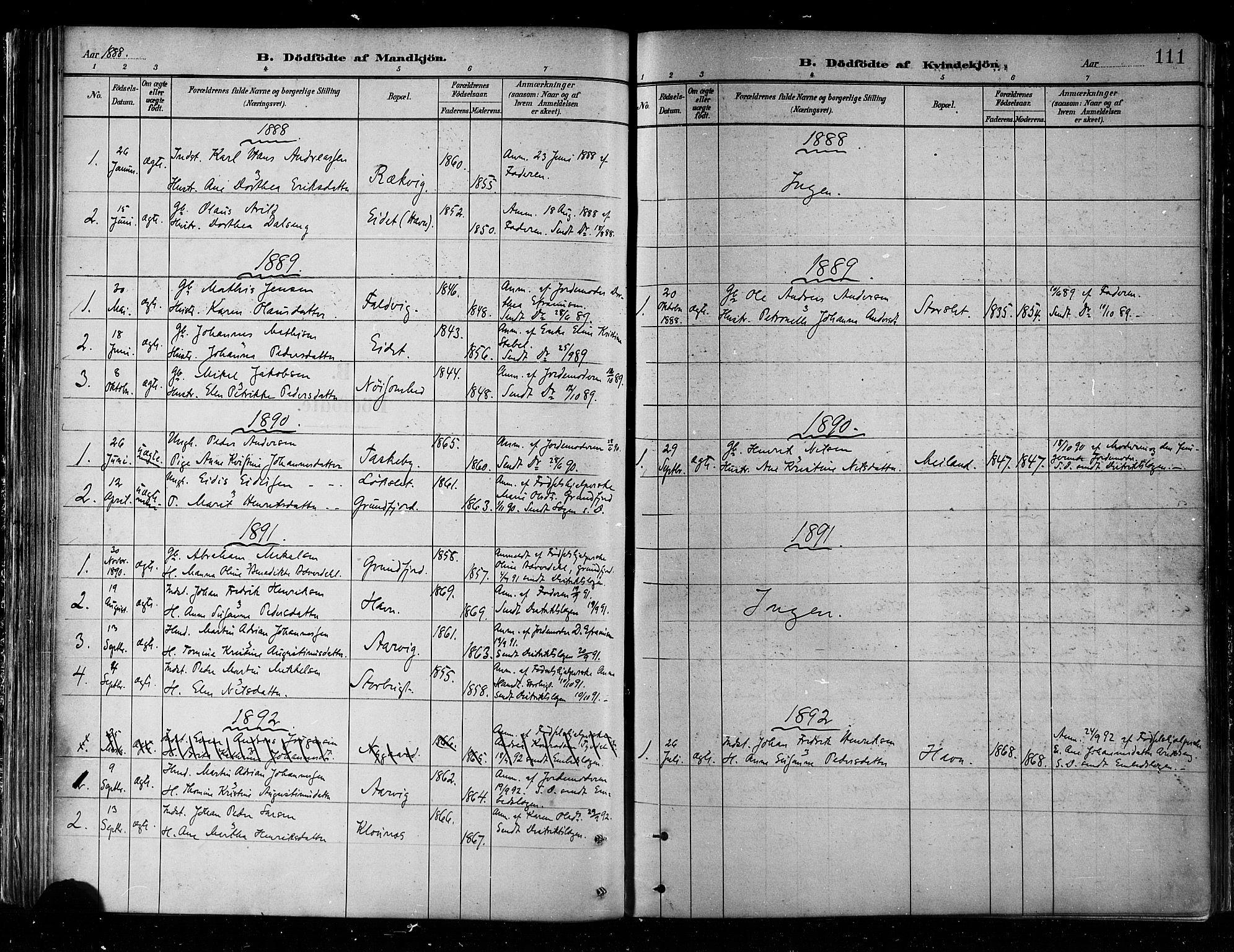 SATØ, Skjervøy sokneprestkontor, H/Ha/Haa/L0010kirke: Parish register (official) no. 10, 1887-1898, p. 111